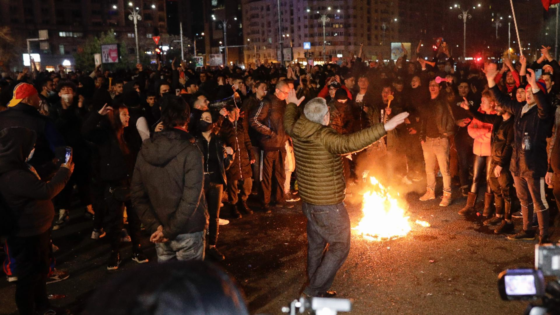 Protest anti-restricții București, 29 martie 2021 Foto:InquamPhotos/Octav Ganea/George Călin