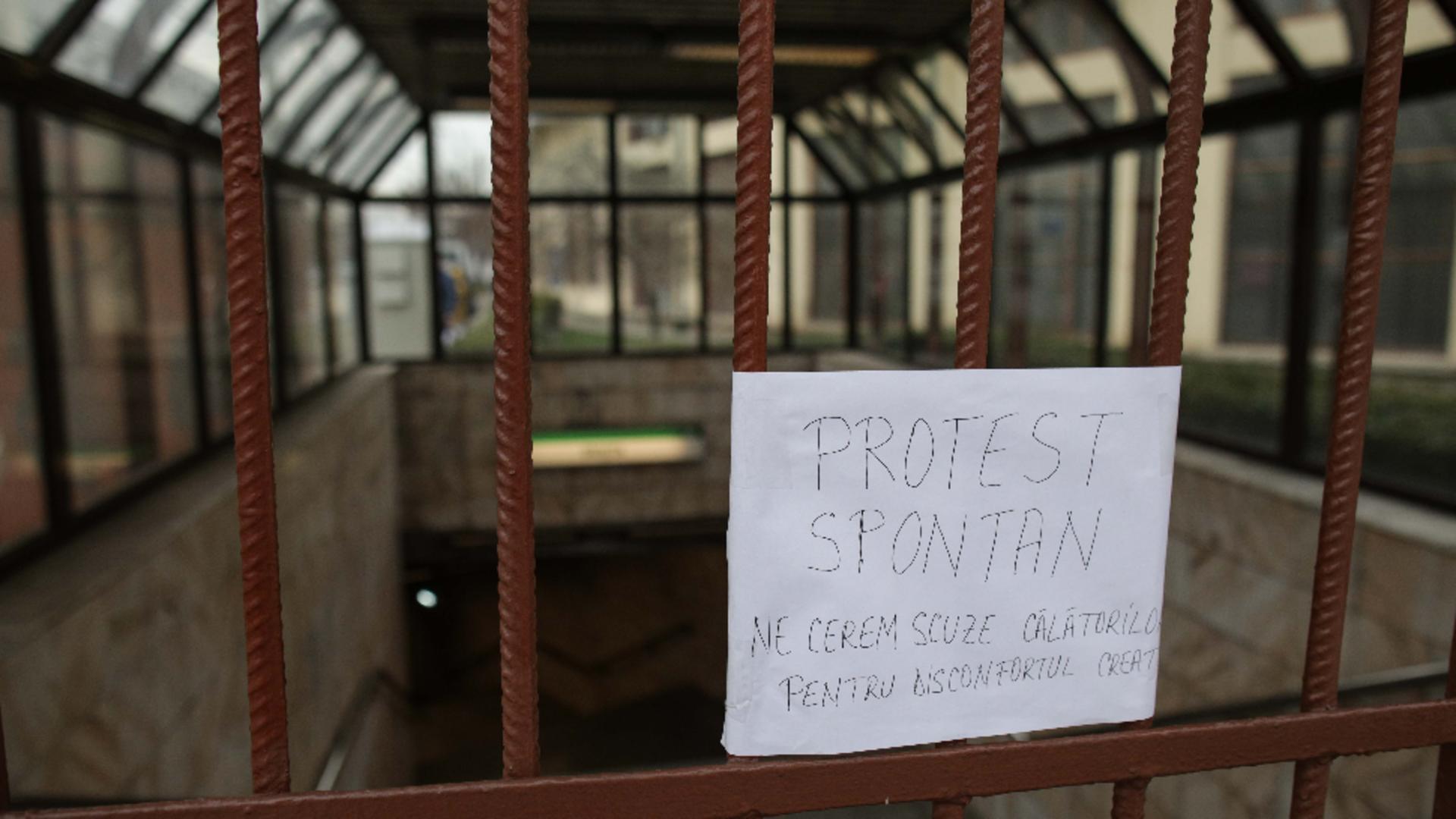 protest la metrou
