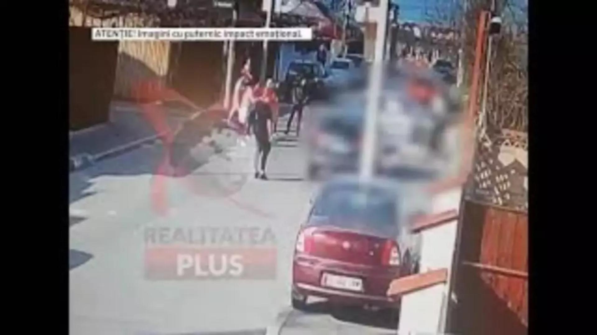 Imagini de la accidentul din cartierul Andonache