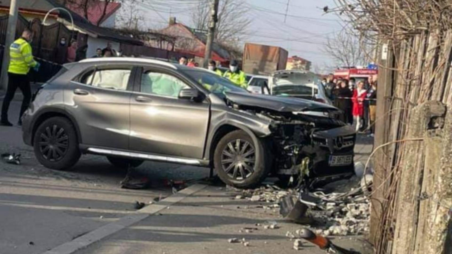 Locul accidentului din Cartierul Andronache