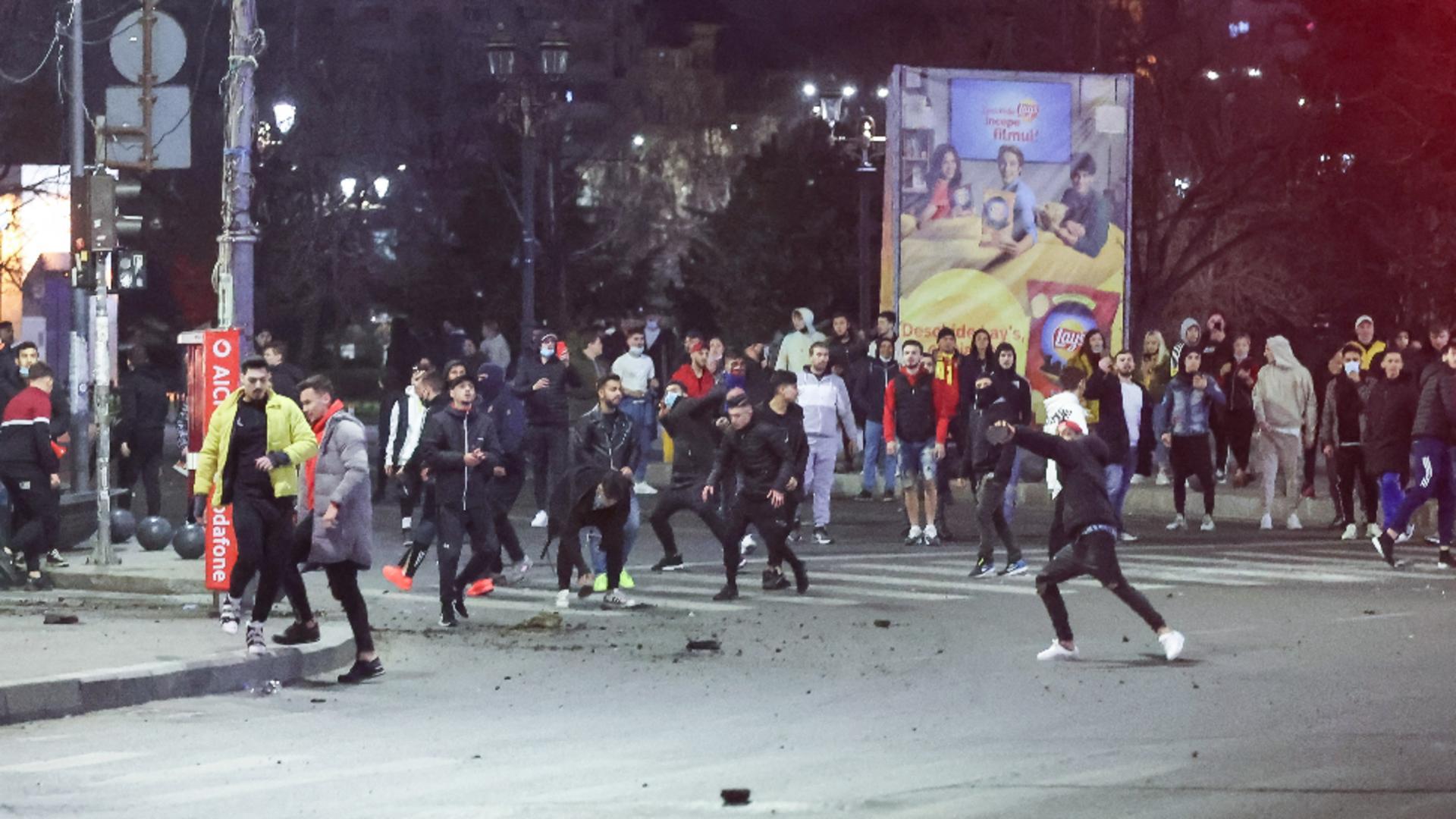 Violențe protest anti-restricții București, 29 martie 2021/InquamPhotos/Bogdan-Ioan Buda/George Călin
