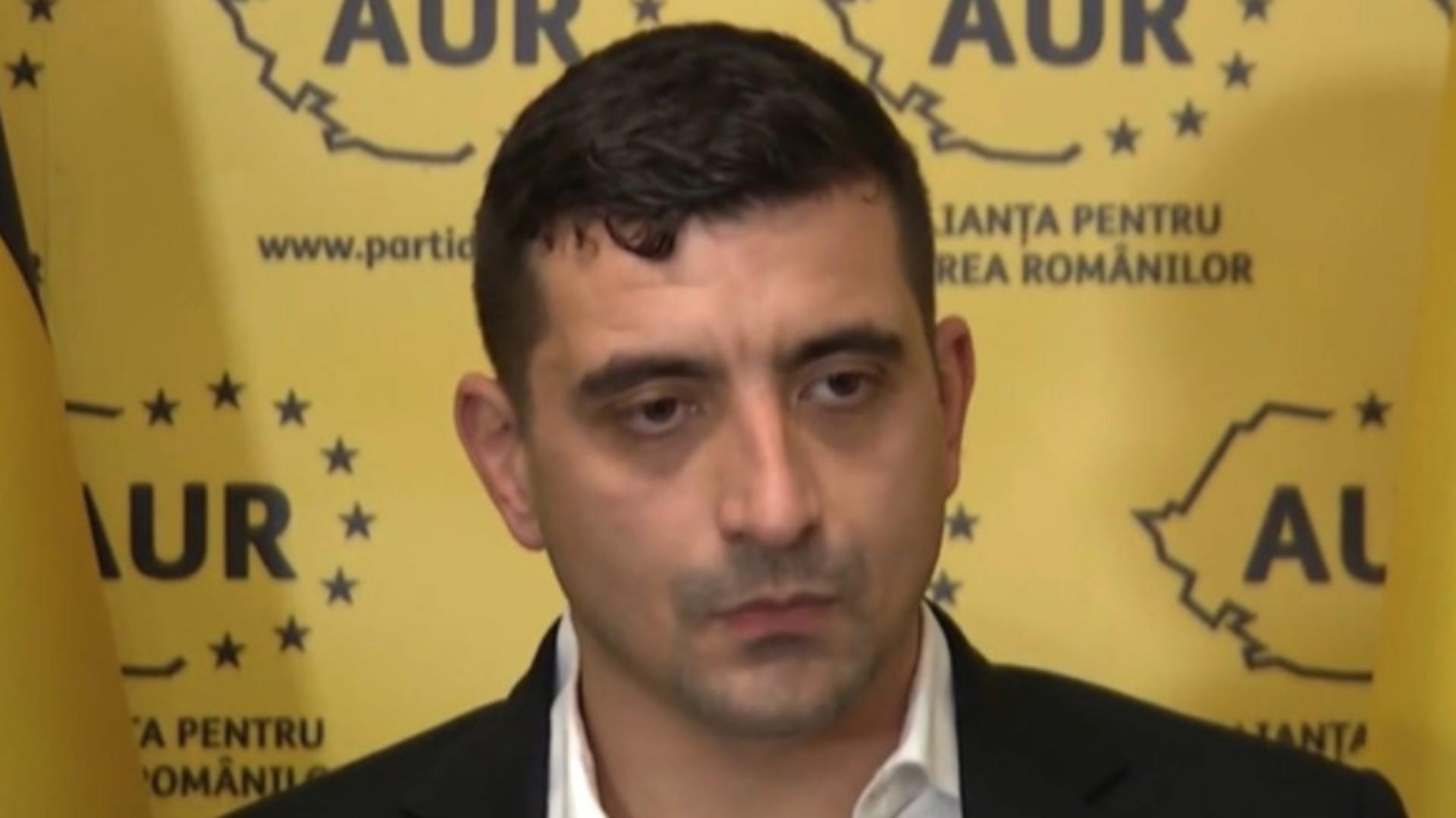 George Simion, liderul deputaților Alianței pentru Unirea Românilor (AUR)