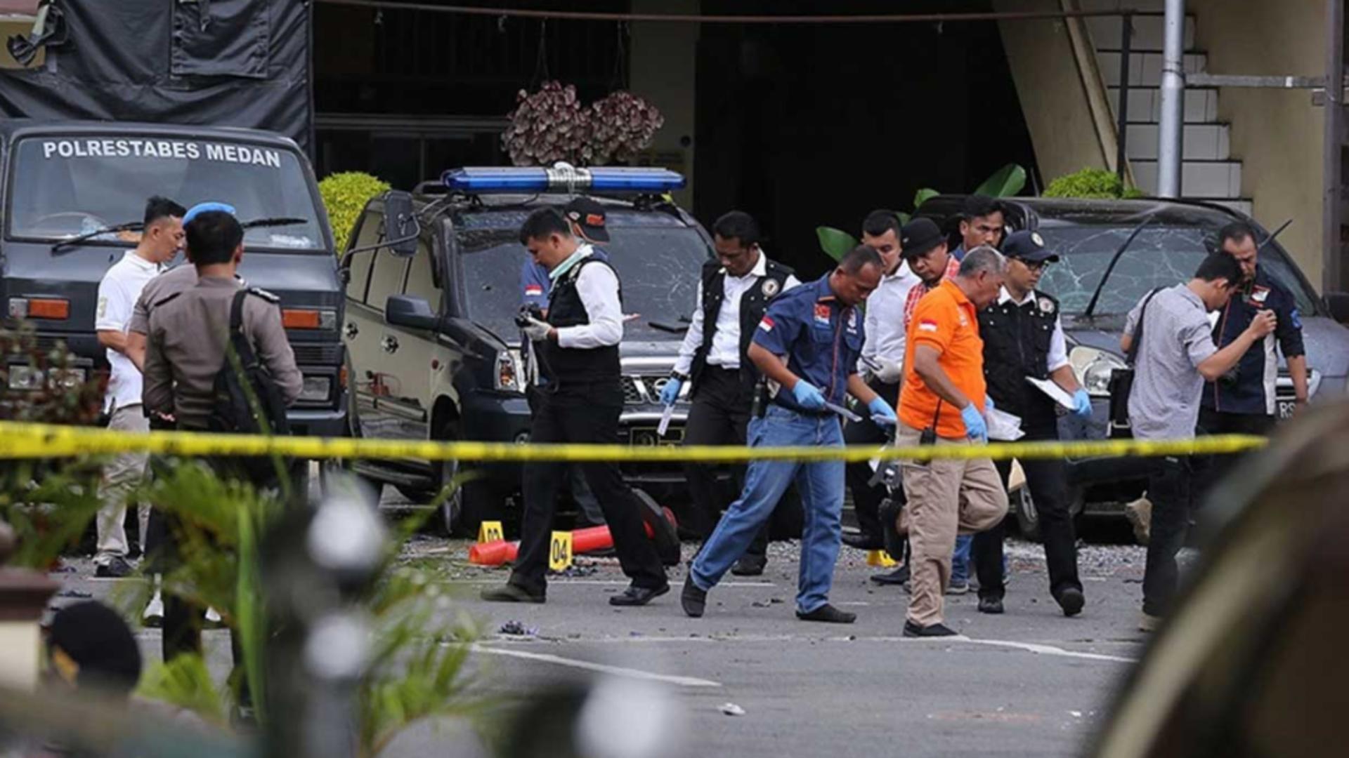 Explozie puternică la o catedrală catolică de Florii în Indonezia Foto: Twitter.com