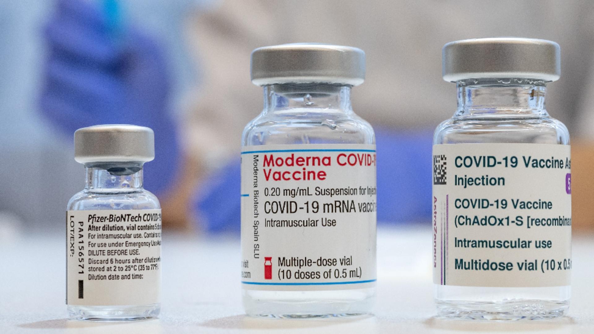 vaccinurile Pfizer, Moderna AstraZeneca Foto: Profi Media