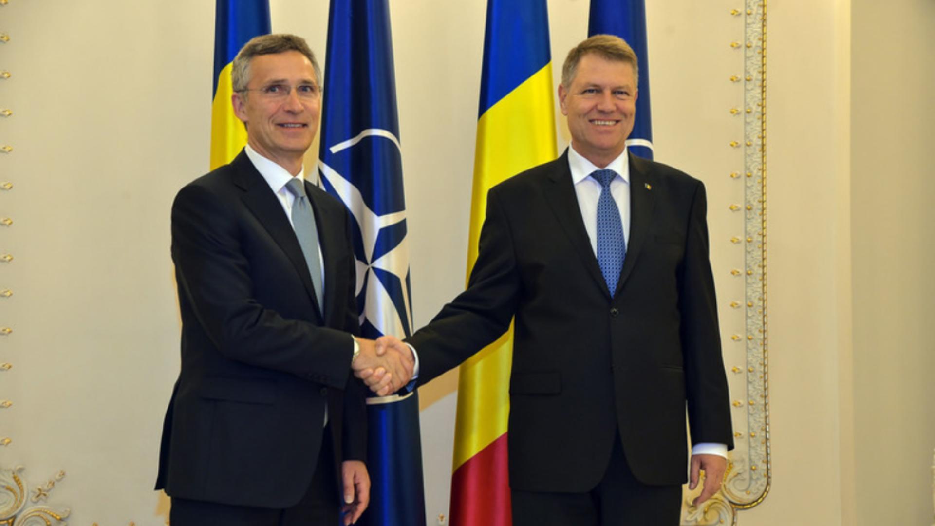 Klaus Iohannis și Jens Stoltenberg, NATO Foto: nato.int