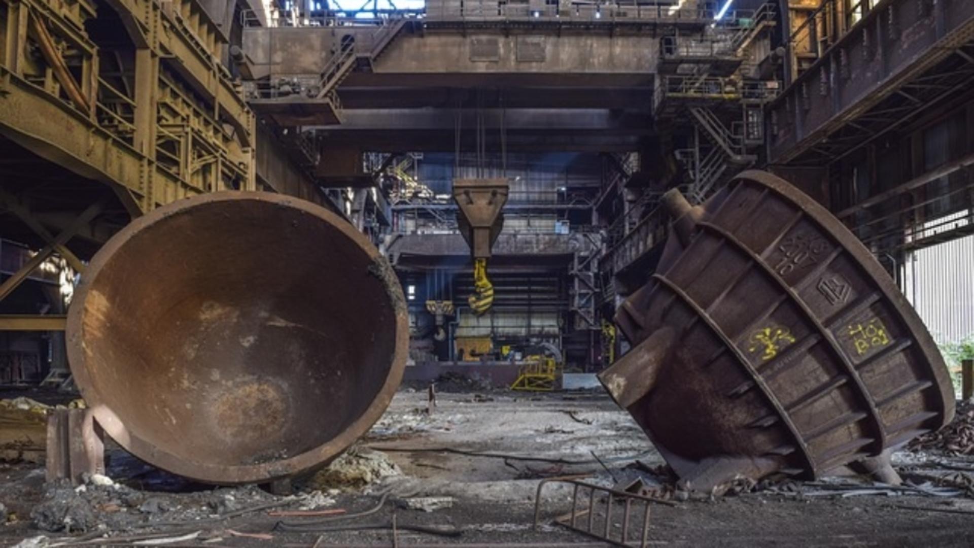 Fosta perlă a siderurgiei din Târgoviște a ajuns fier vechi
