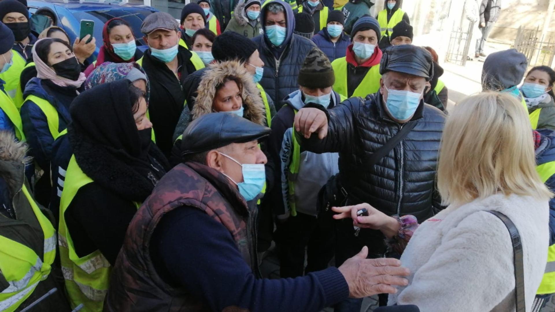 Protest angajați Salubritate Focșani