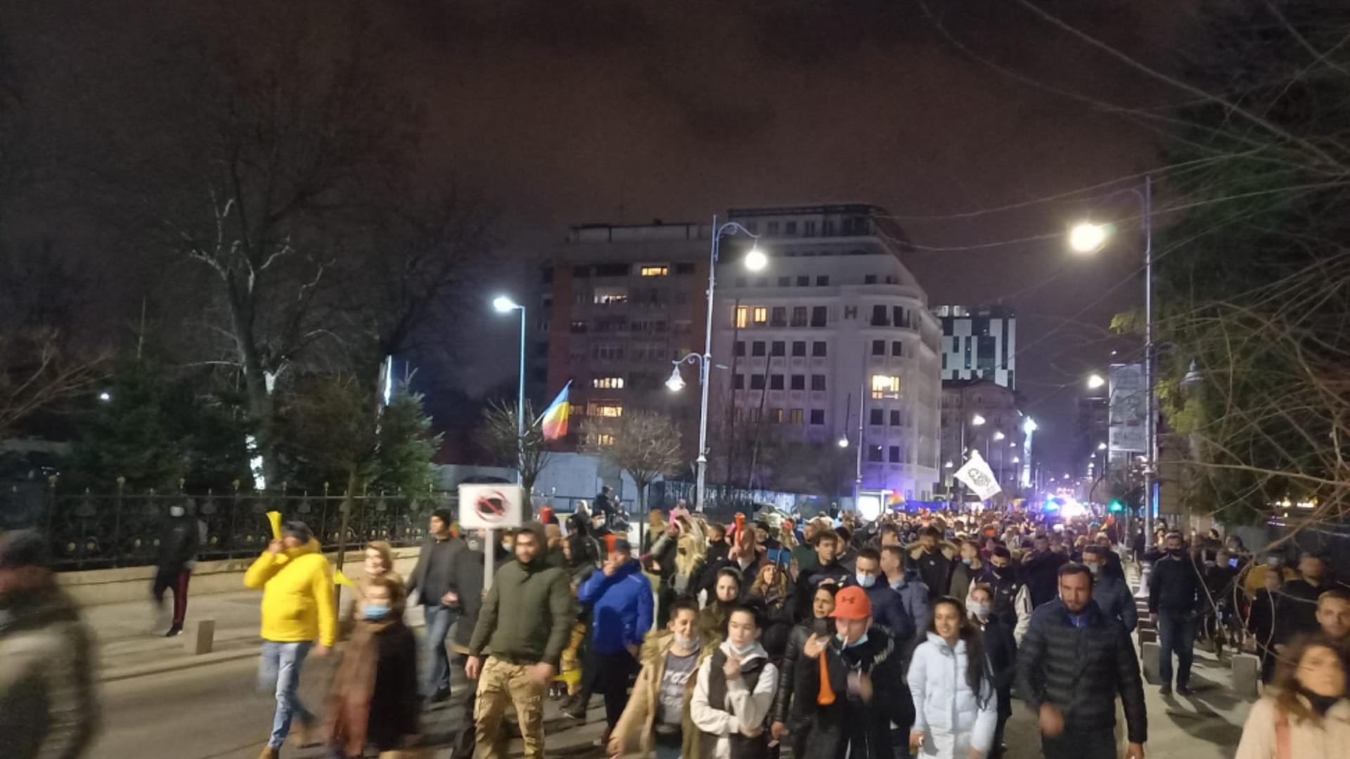 Proteste antirestrictii in Bucuresti