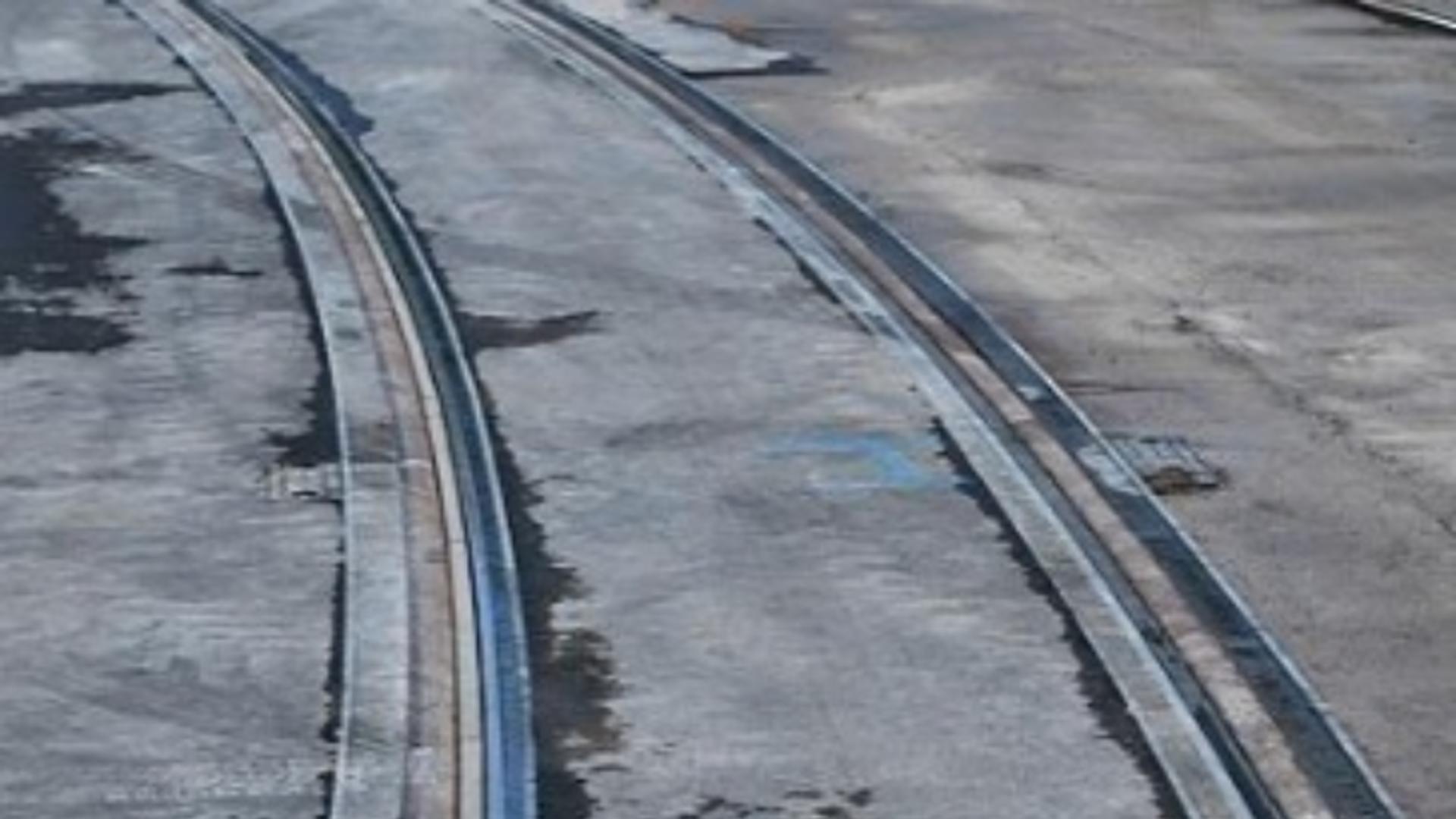 Potrivit Poliției Rutiere, accidentul s-a produs pe liniile de tramvai