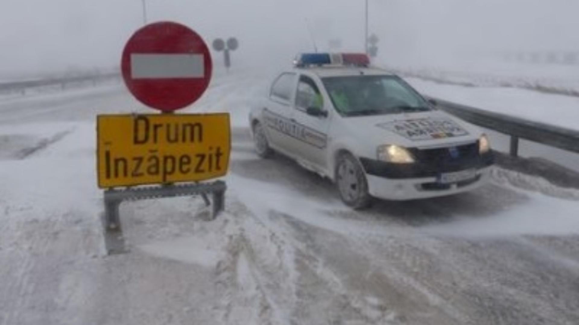 Administrația Națională de Meteorologie a emis o atenționare meteo cod galben de ninsori și viscol