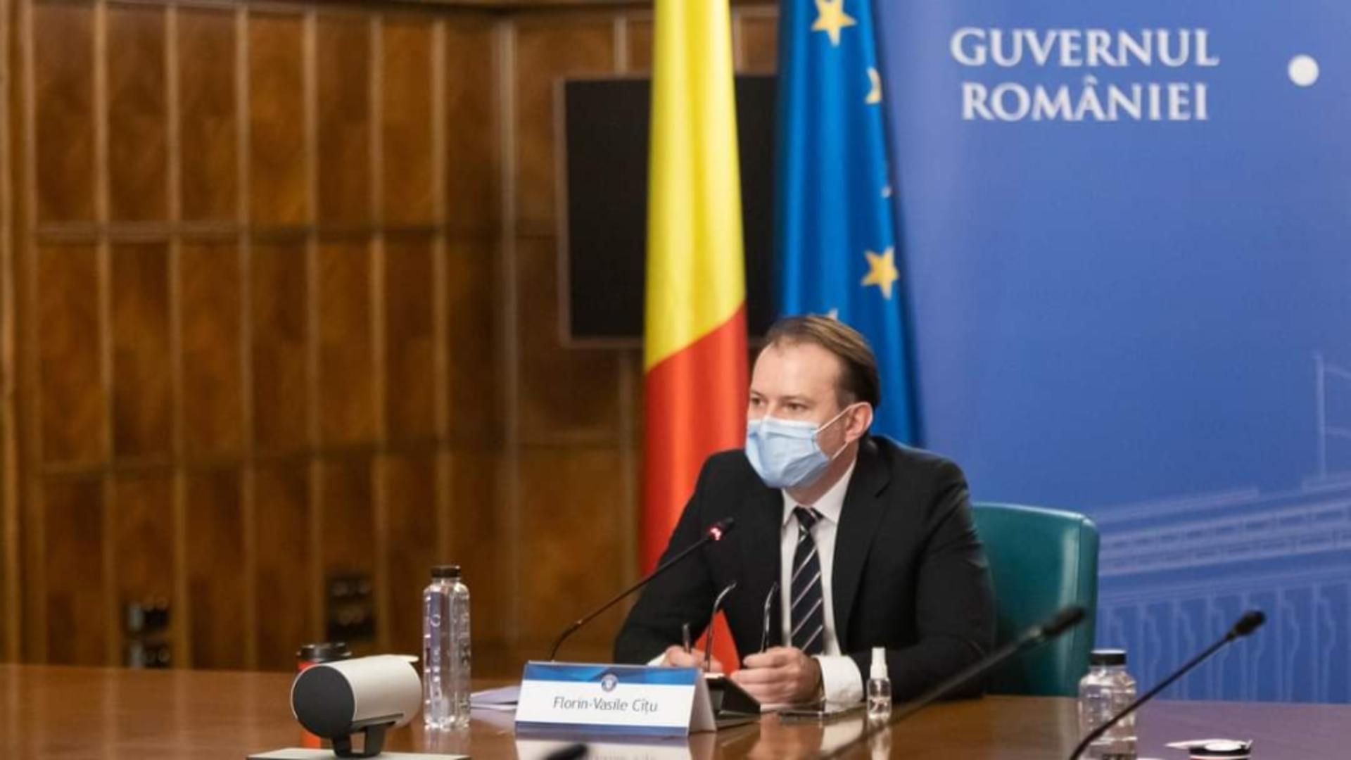 Premierul României, Florin Cîțu /  Foto: Facebook