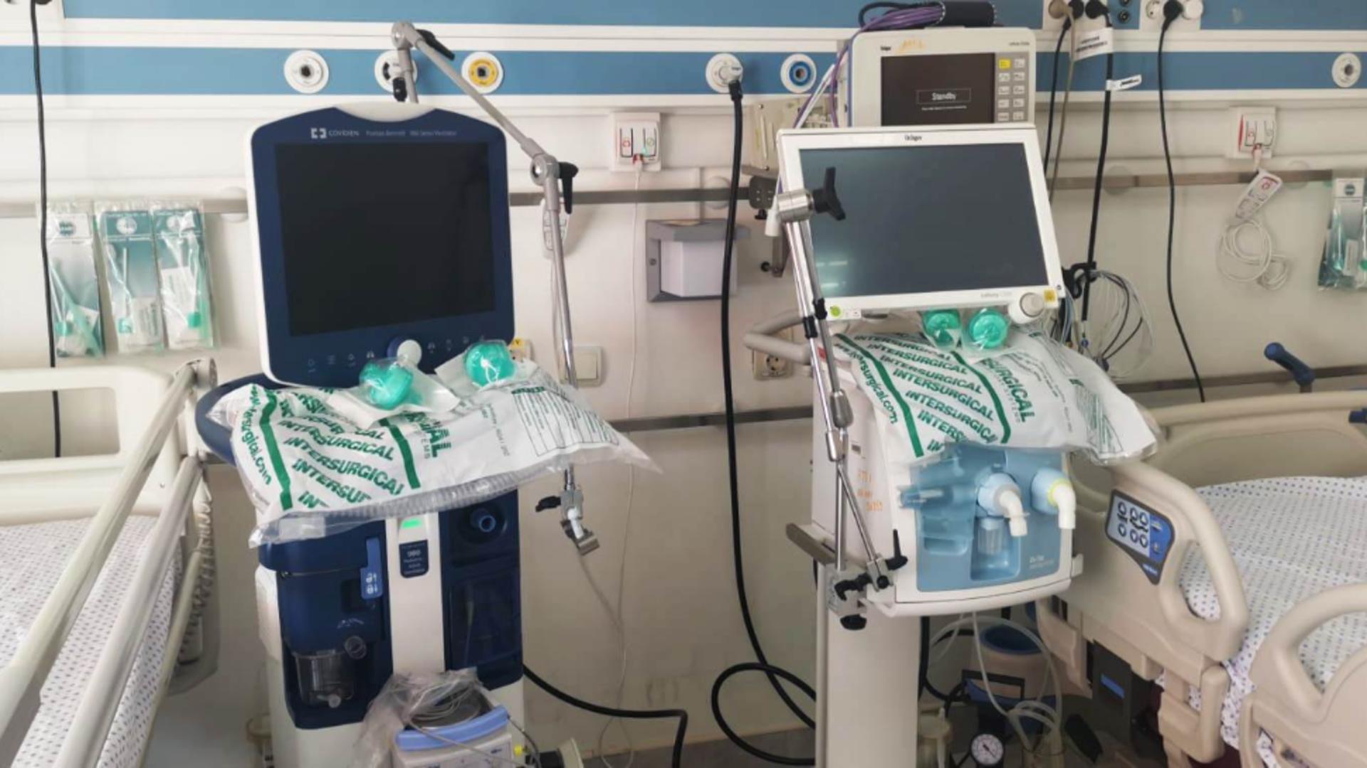 14 noi paturi la ATI - Spitalul Militar. Foto: MApN Facebook