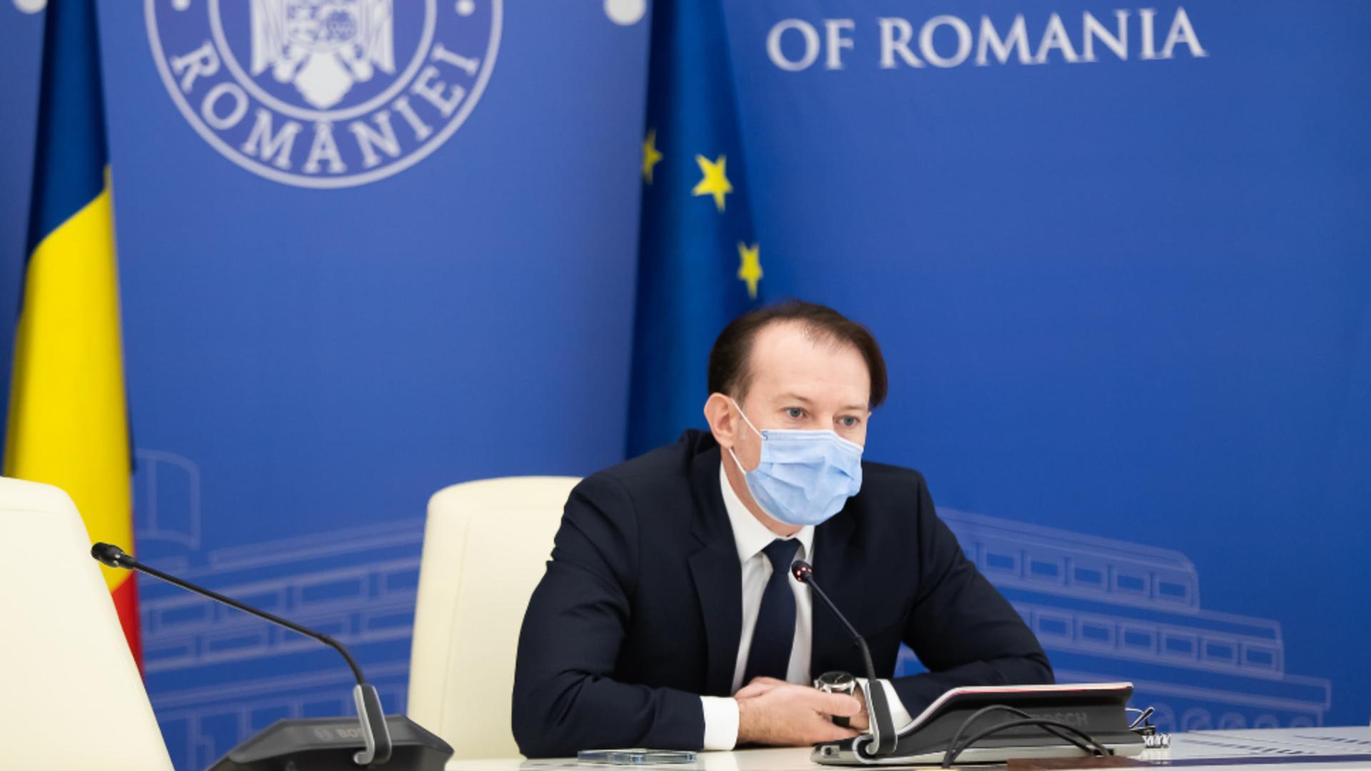 Florin Cîțu, prim-ministrul României / Foto: Facebook Guvernul României