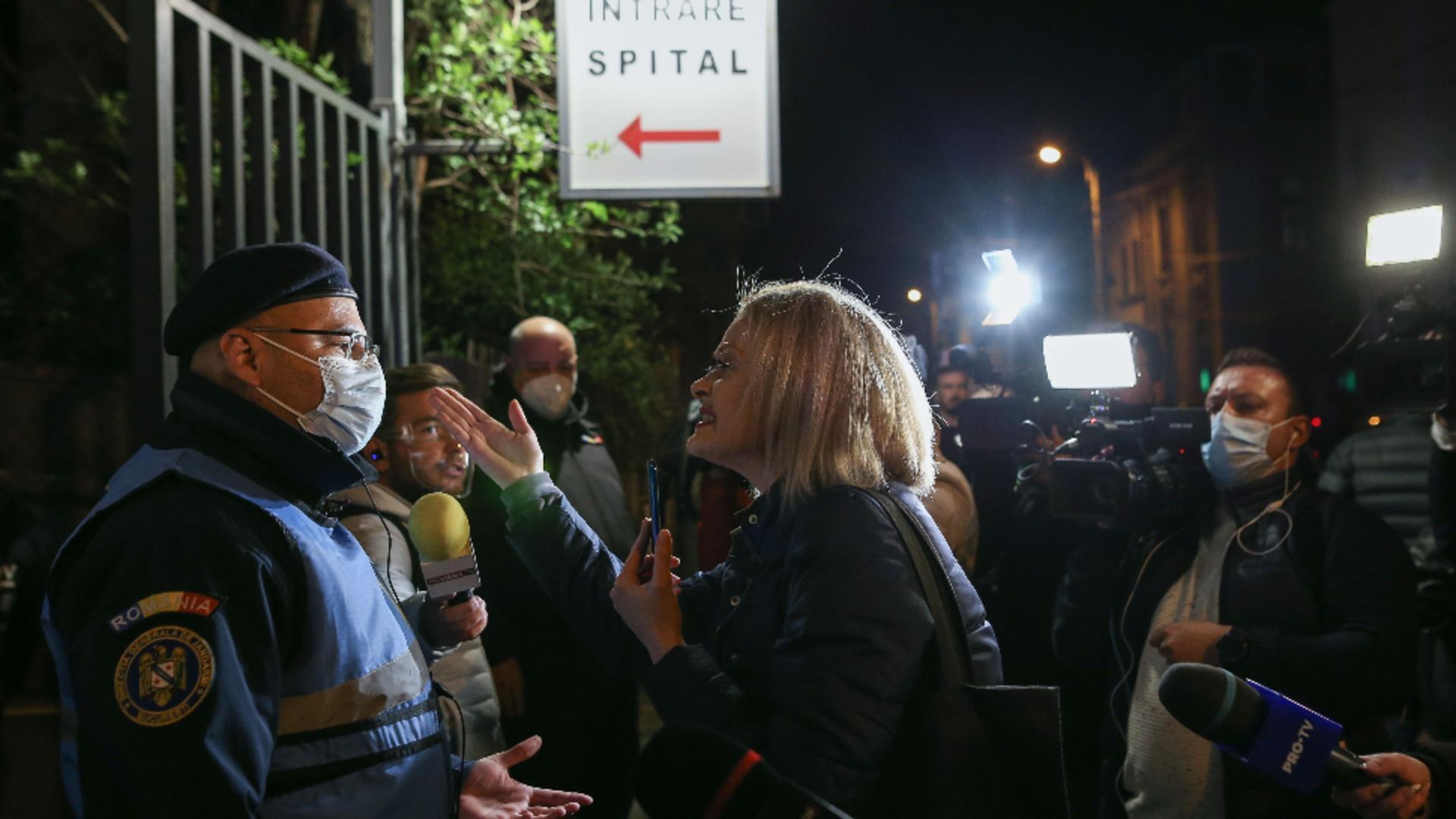 Evacuare Spital Foisor - sursa foto: Sabin Cirnovean, INQUAM