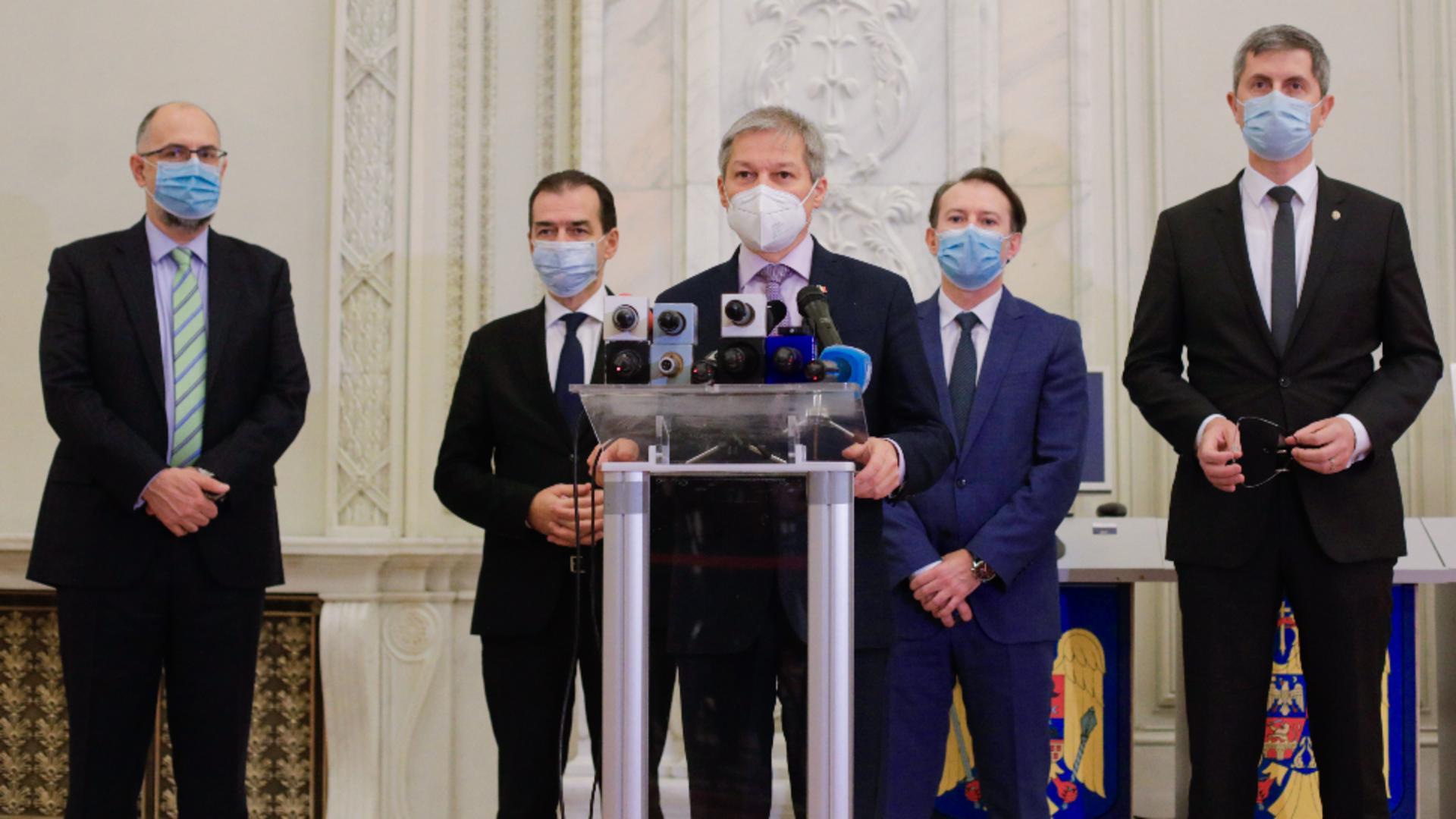 Dacian Cioloș ar vrea să iasă și din coaliție și din alianța cu USR. Foto/Inquam