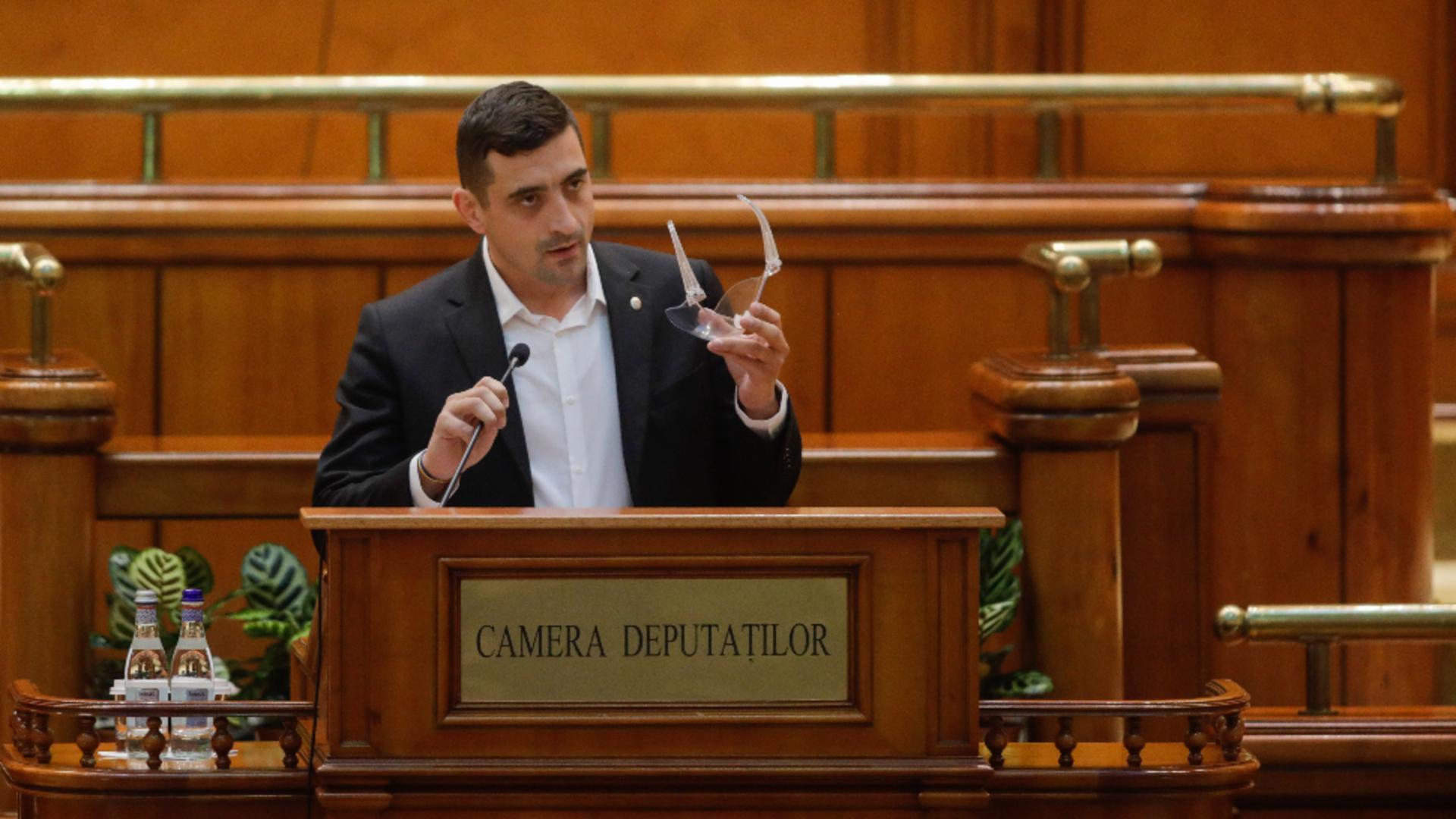 Partidul lui George Simion a ajuns pe locul 3 în sondaje / Foto: Inquam Photos