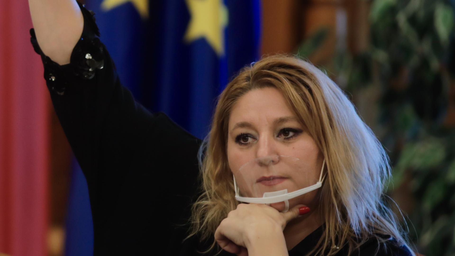 Diana Șoșoacă îl acuză pe Bogdan Aurescu pentru conflictul cu Rusia Foto: INQUAM/George Călin