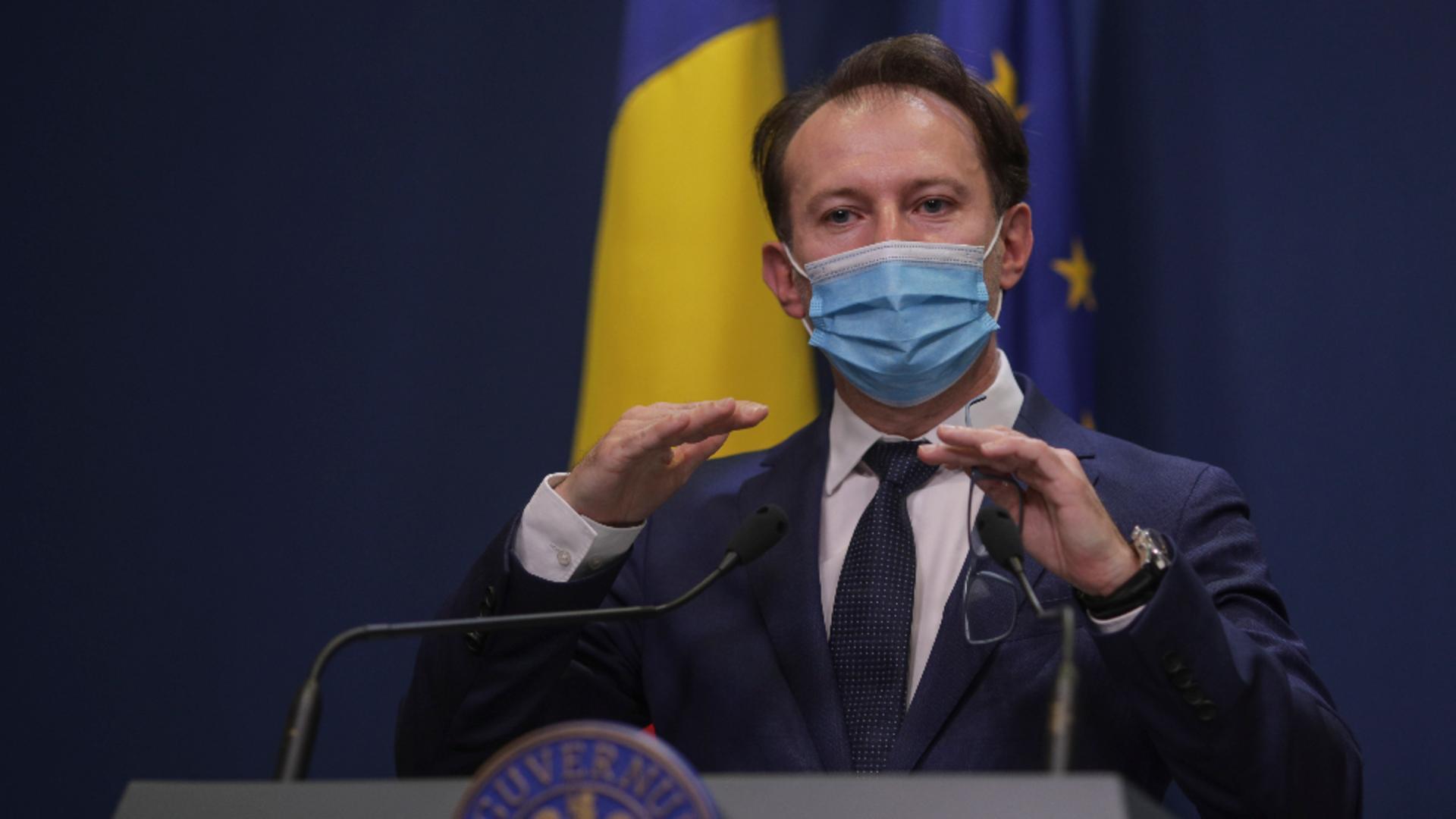 Premierul Florin Cîțu, anunț restricții stare de alertă și Paștele ortodox Foto: InquamPhotos/Octav Ganea