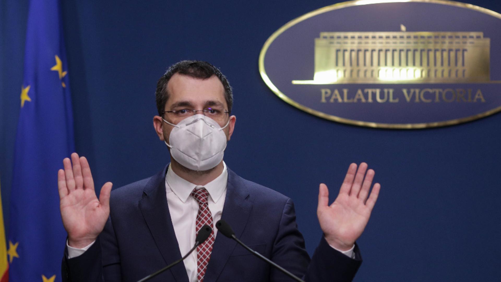 Vlad Voiculescu, ministrul Sănătății Foto: InquamPhotos/Octav Ganea