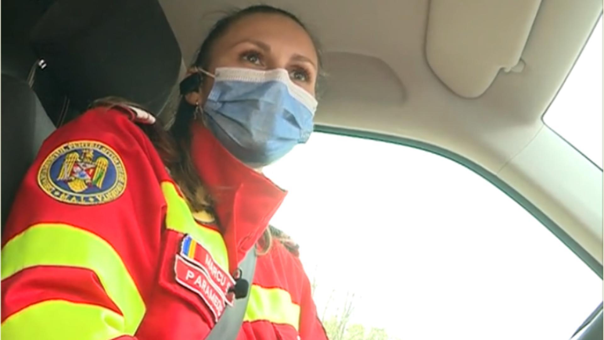 Singura femeie care conduce o ambulanță SMURD