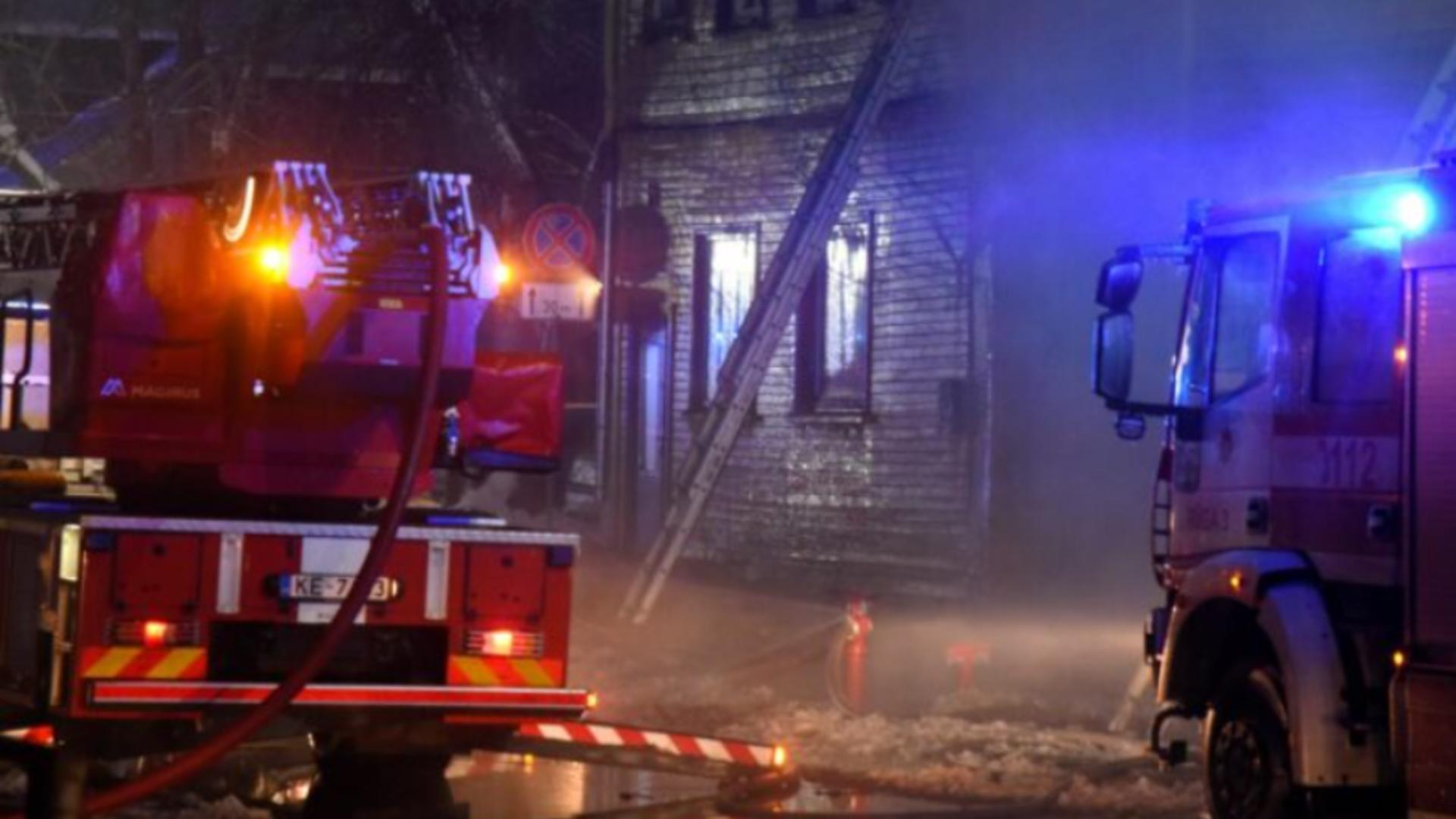 Incendiu hostel Riga