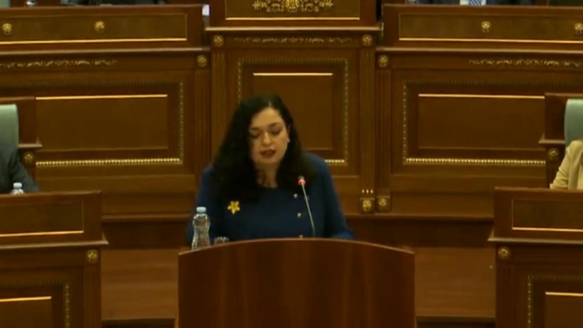 Vjosa Osmani, noul președinte al Kosovo