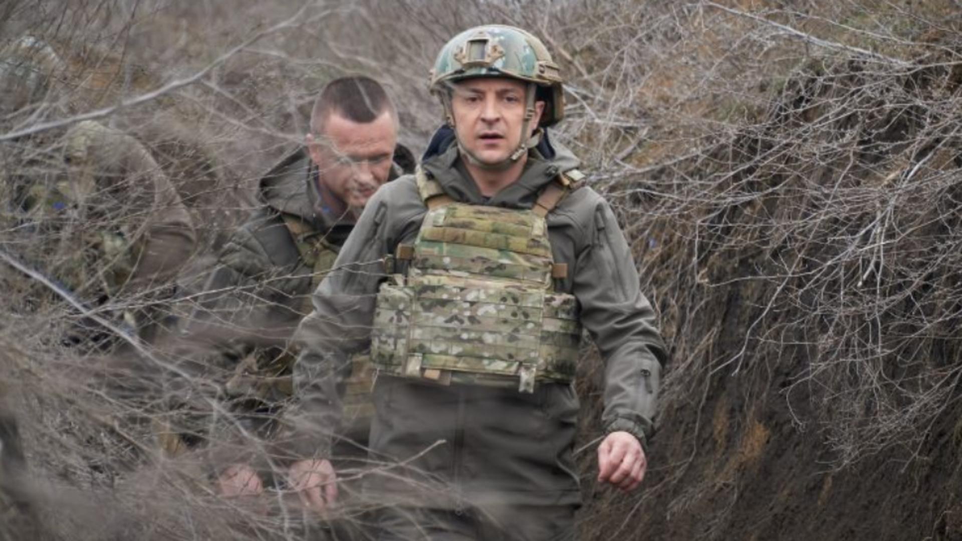 Președintele Zelenski mobilizează rezerviștii din Ucraina în fața desfășurării de forțe rusești Foto: Euractiv. com/EPA/EFE