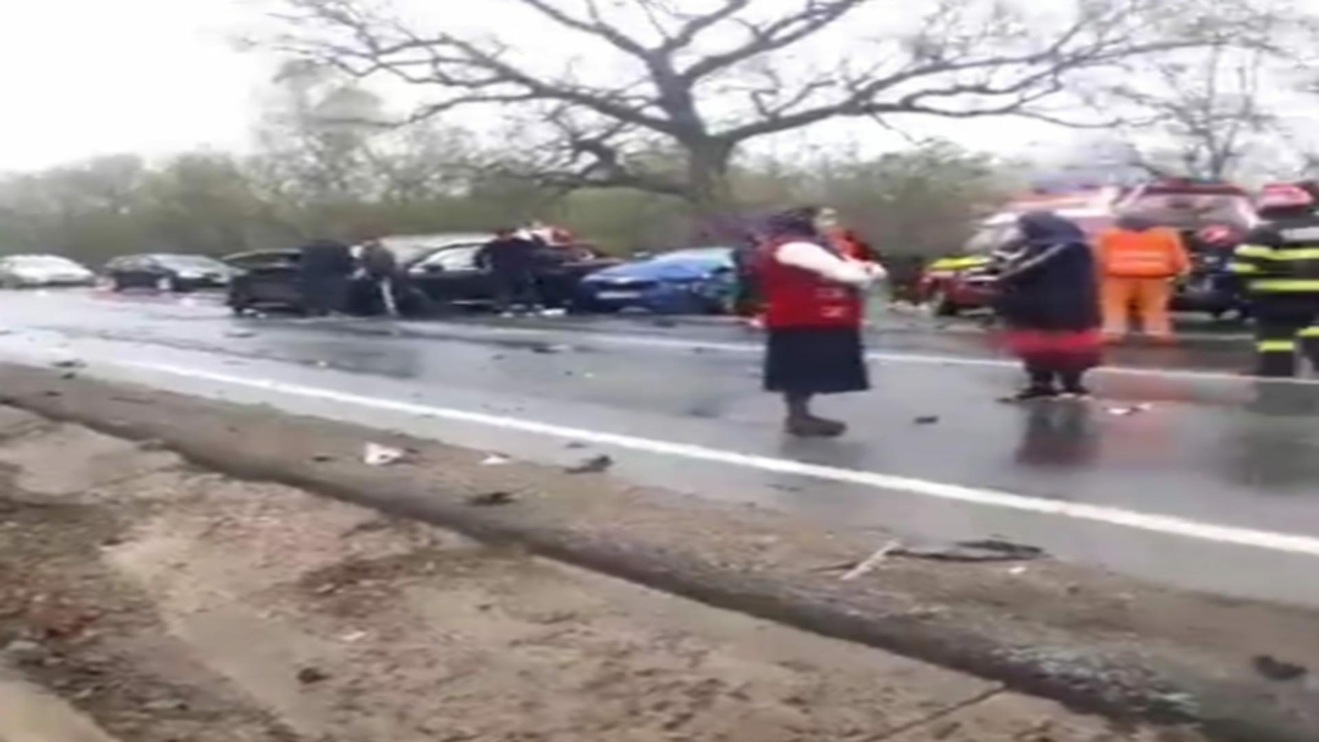 Accident DN 24 Tecuci- Bârlad (DE 581)