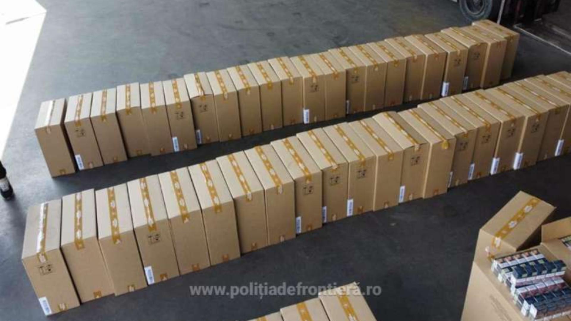 Politia de Frontiera - tigari confiscate