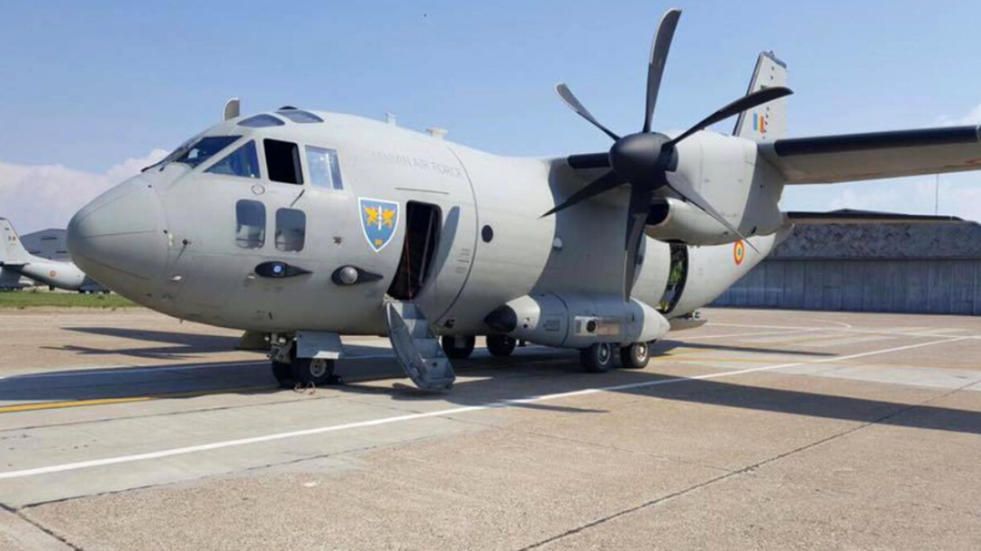 Aeronavă C-27J Spartan a Forţelor Aeriene Române