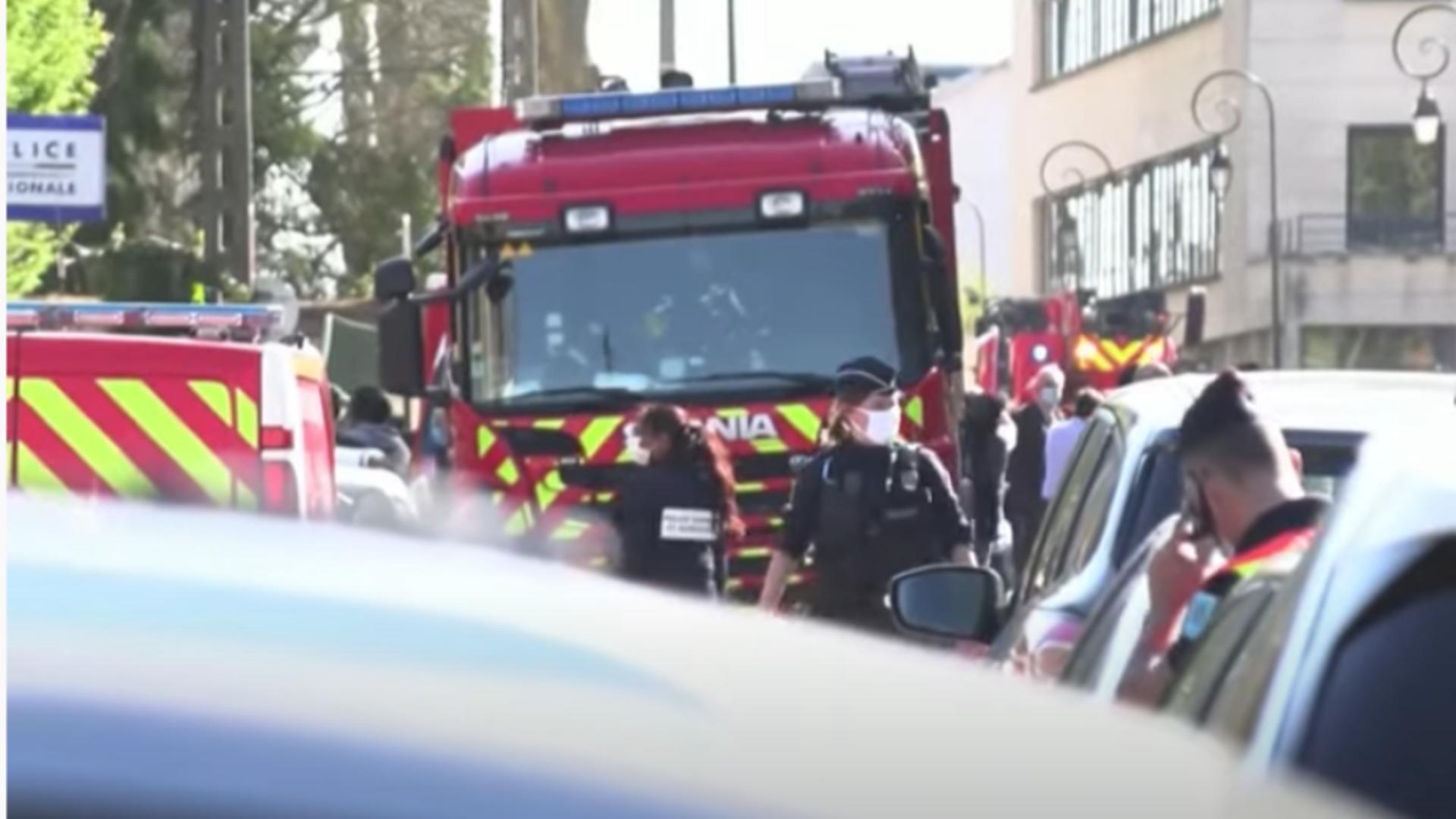 Polițistă ucisă în Franța. Foto: captură YouTube