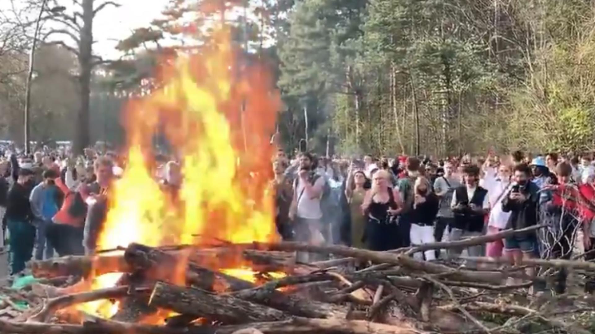 Incidente violente în Belgia la un protest anti-restricții