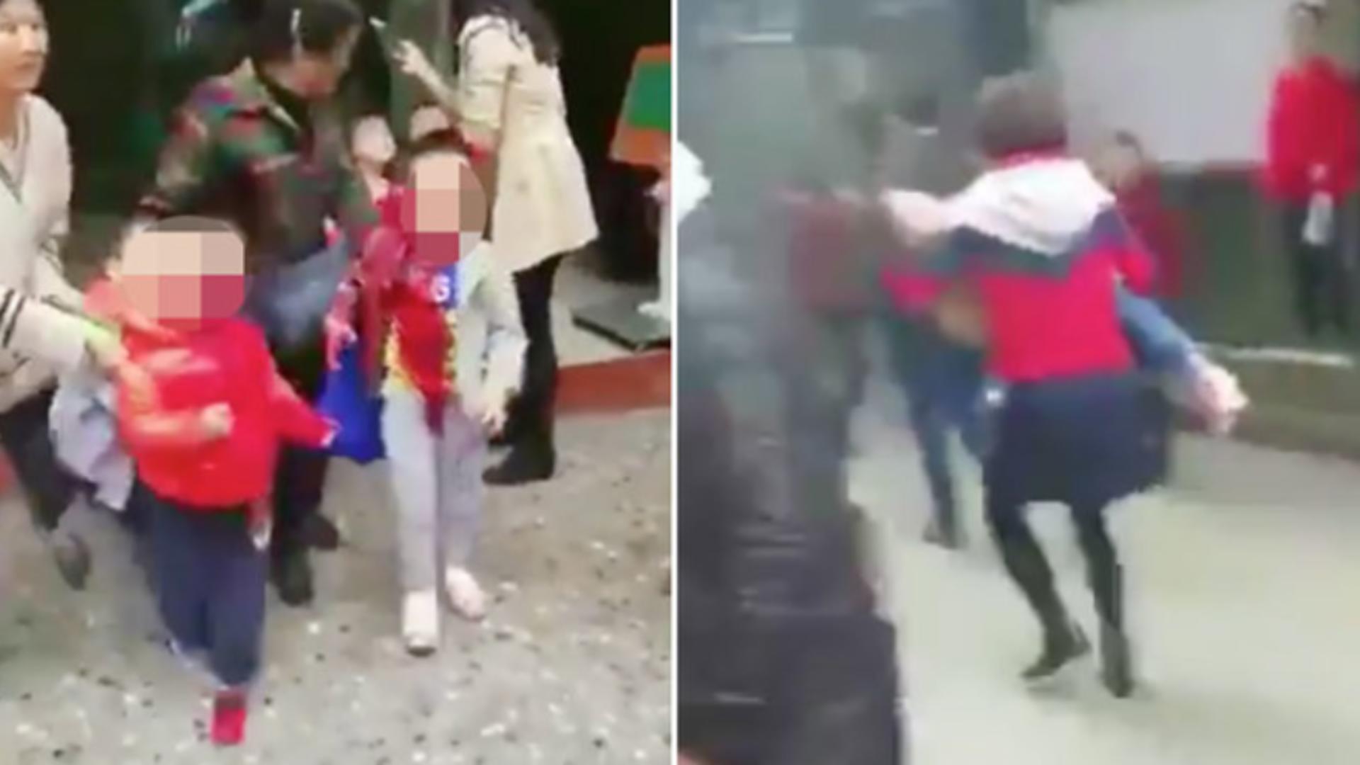 Presa chineză a transmis imagini șocante de la locul atacului