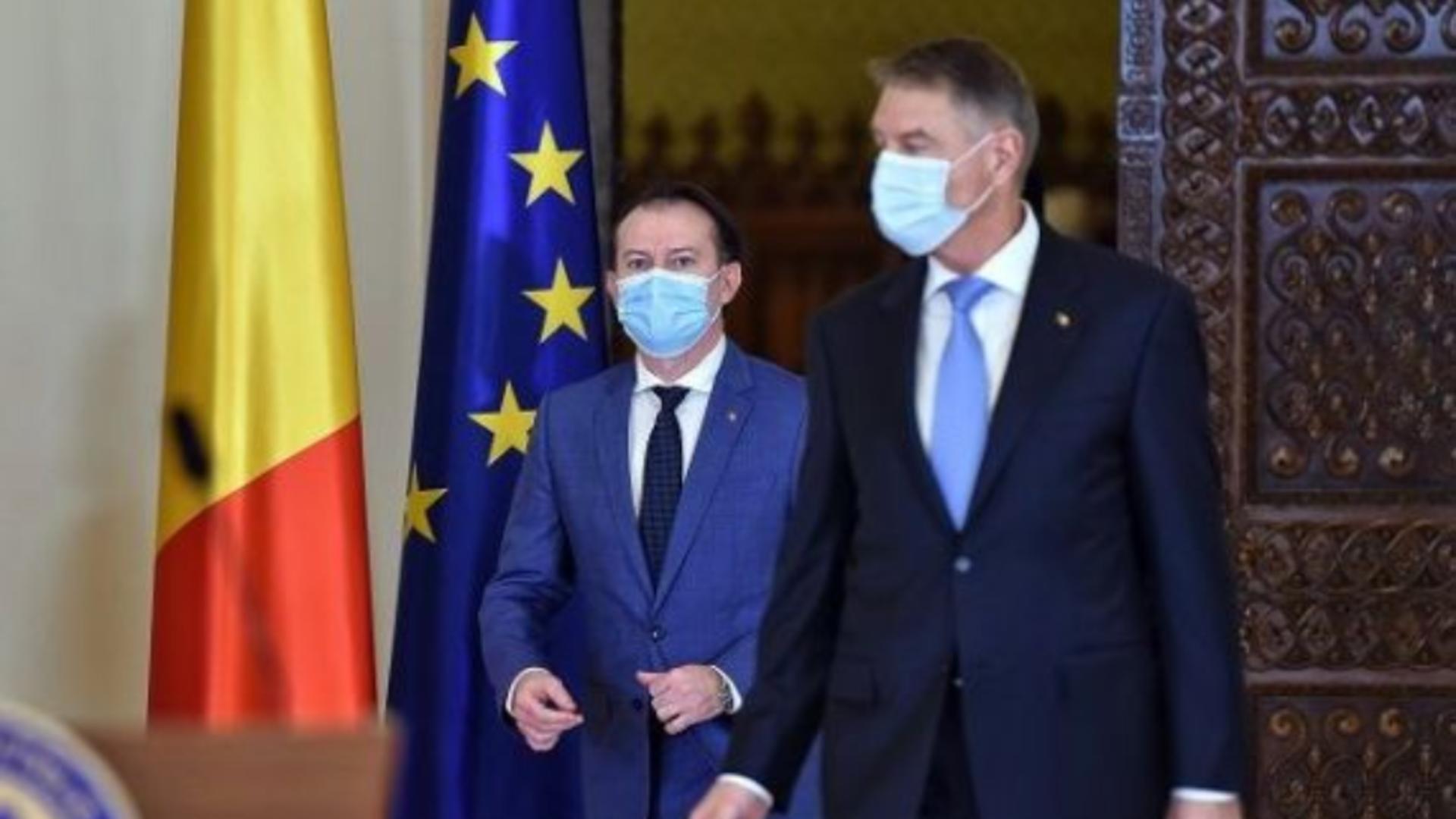 Președintele României, Klaus Iohannis, și premierul Florin Cîțu