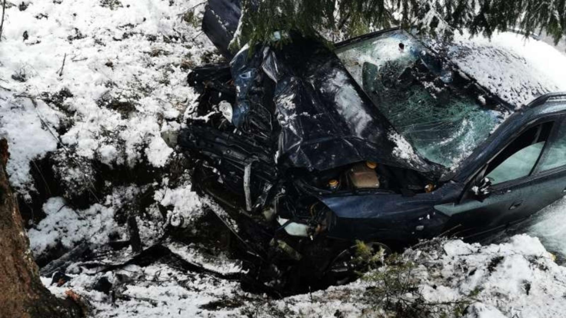 Un bărbat a murit, duminică, într-un accident produs pe DN 75 / Foto: ISU Alba