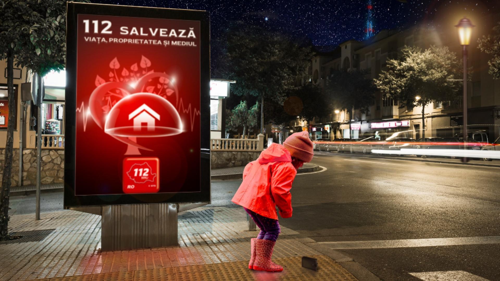 O fetiță de 9 ani din Bistrița-Năsăud a sunat la 112 și a cerut cu Poliția