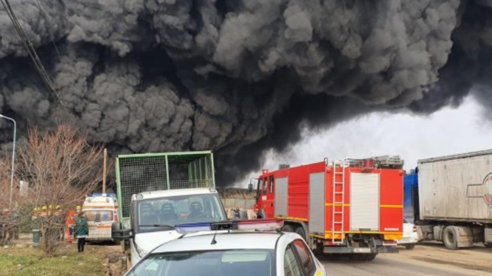 Incendiu puternic Buzău