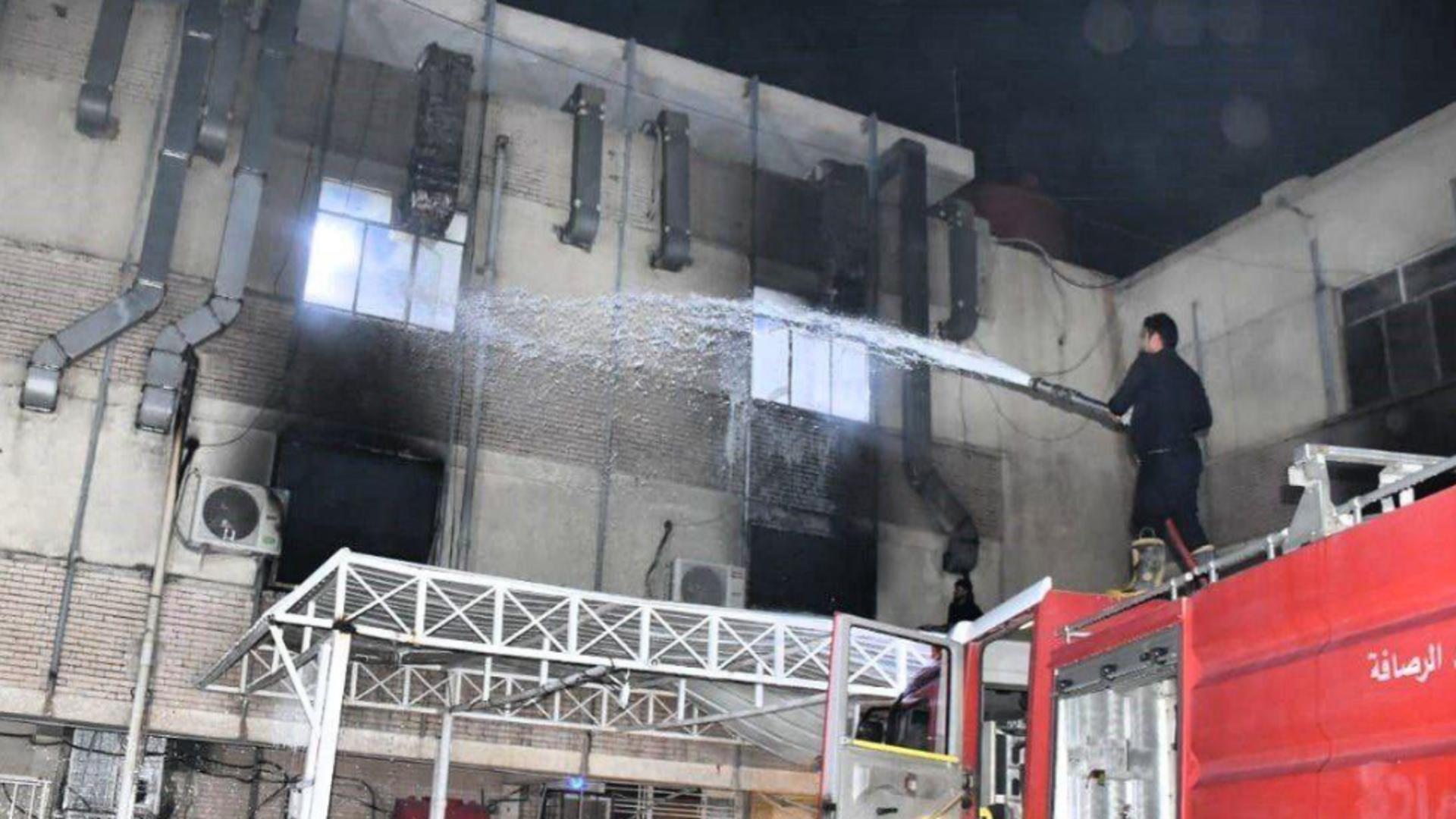 TRAGEDIE la un spital COVID din Irak: Cel puțin 82 de MORȚI la ATI după explozia tuburilor de oxigen Foto: Twitter.com