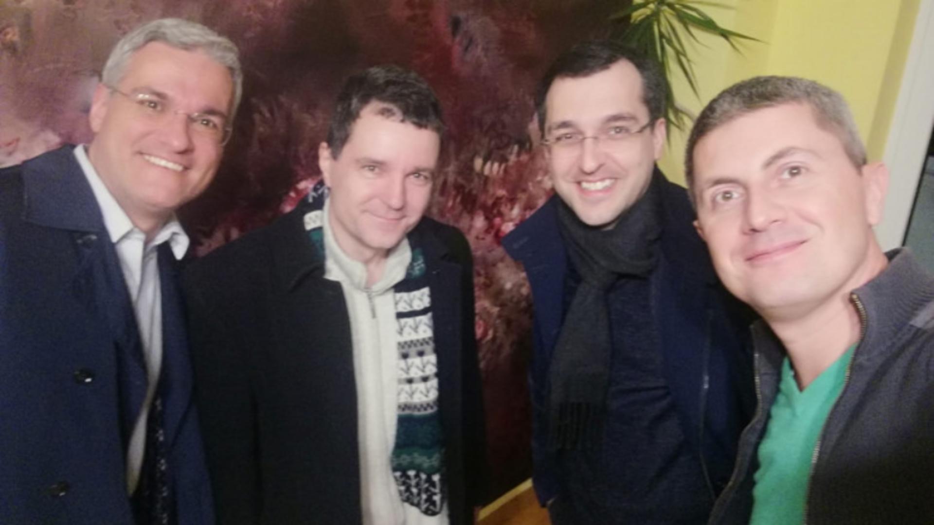Dragos Pâslaru, Nicușor Dan, Vlad Voiculescu, Dan Barna