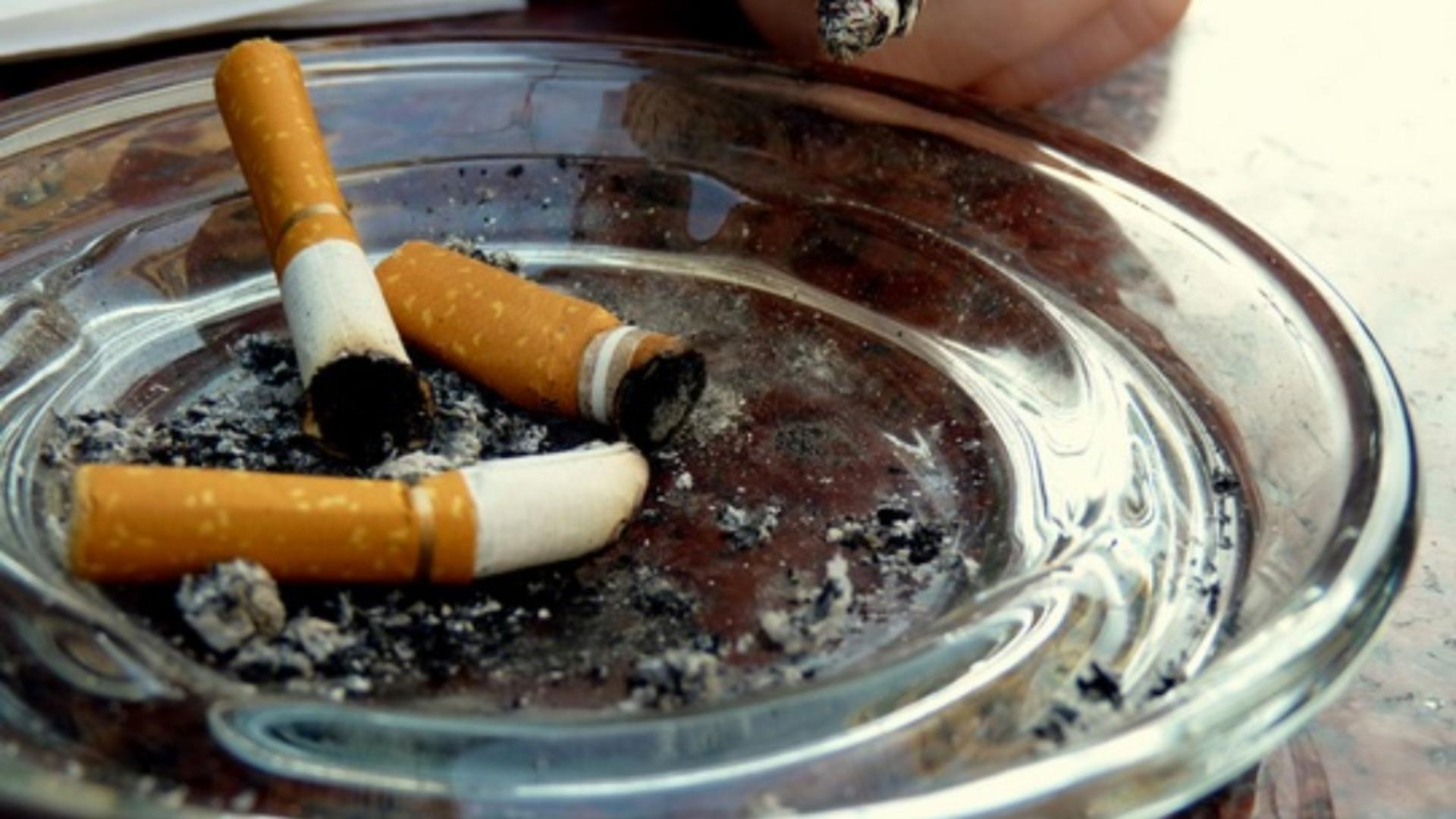 Crima a pornit de la o țigară