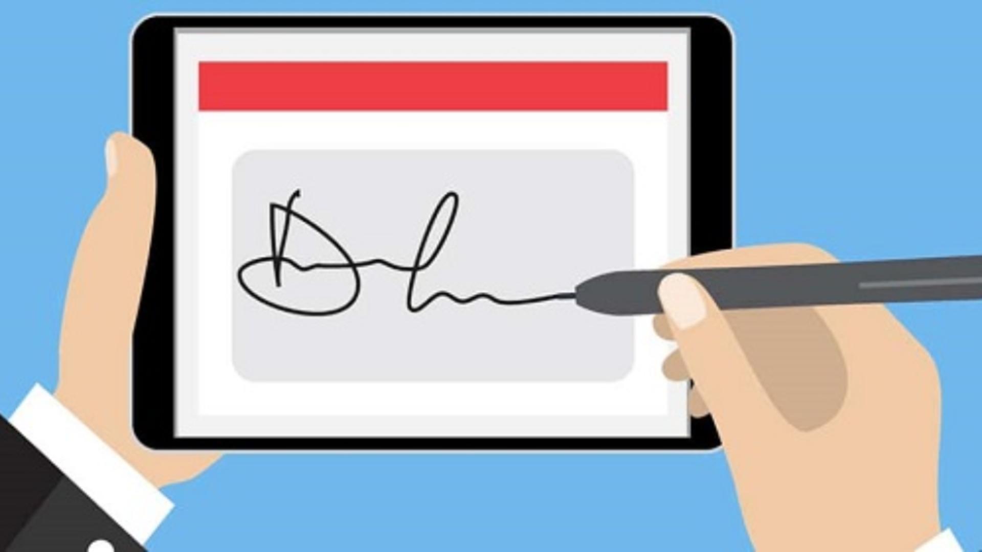 Semnătura electonică, din ce în ce mai folosită (sursă: https://www.consultia.ro)