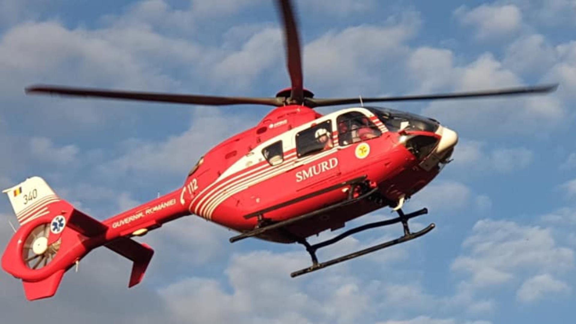 Accident cumplit la Năvodari: bărbat în comă transportat cu elicopterul SMURD