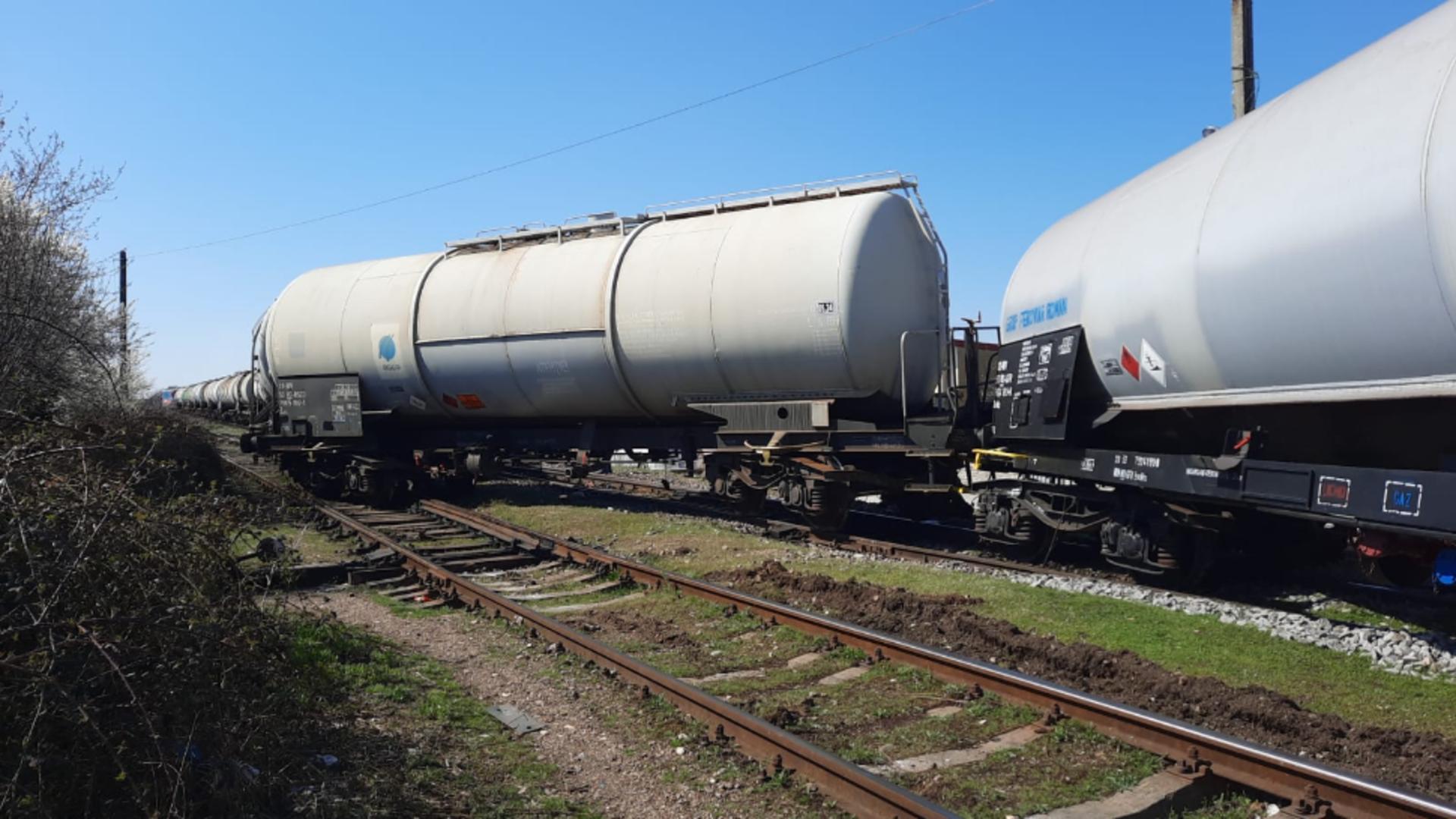Tren deraiat in județul Constanța