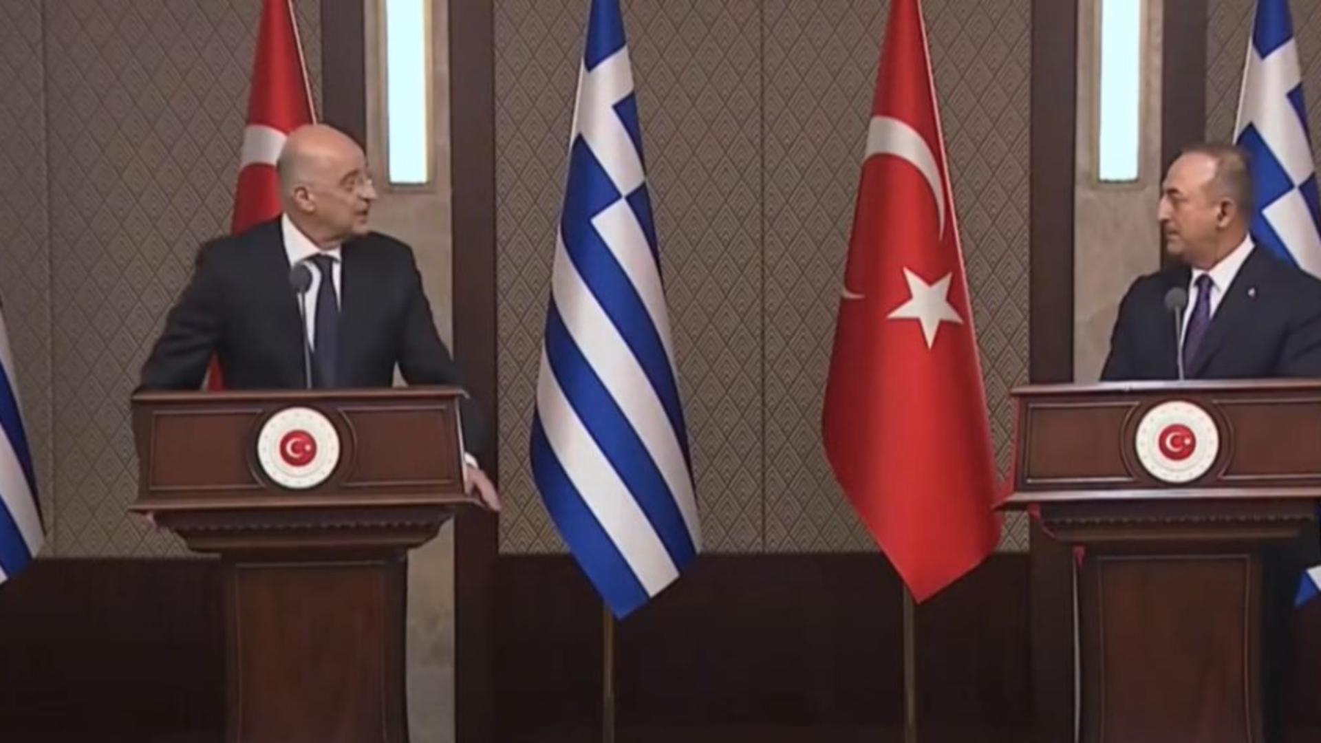 Acuzații reciproce între miniștrii de Externe ai Turciei și Greciei. Captură video