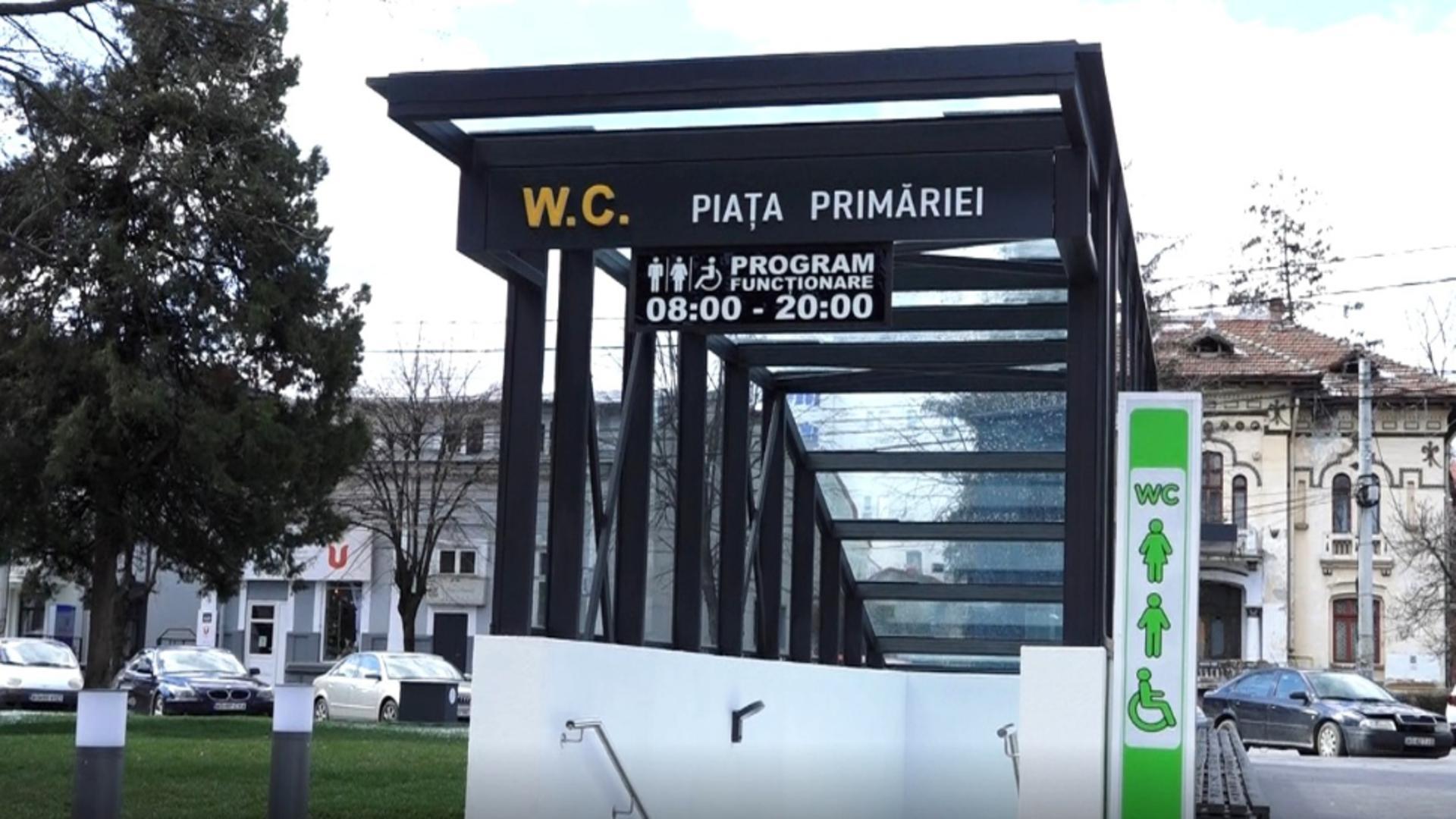Cea mai scumpă toaletă publică din România - la control! Cine face verificări pentru cei 400.000 de euro cheltuiți