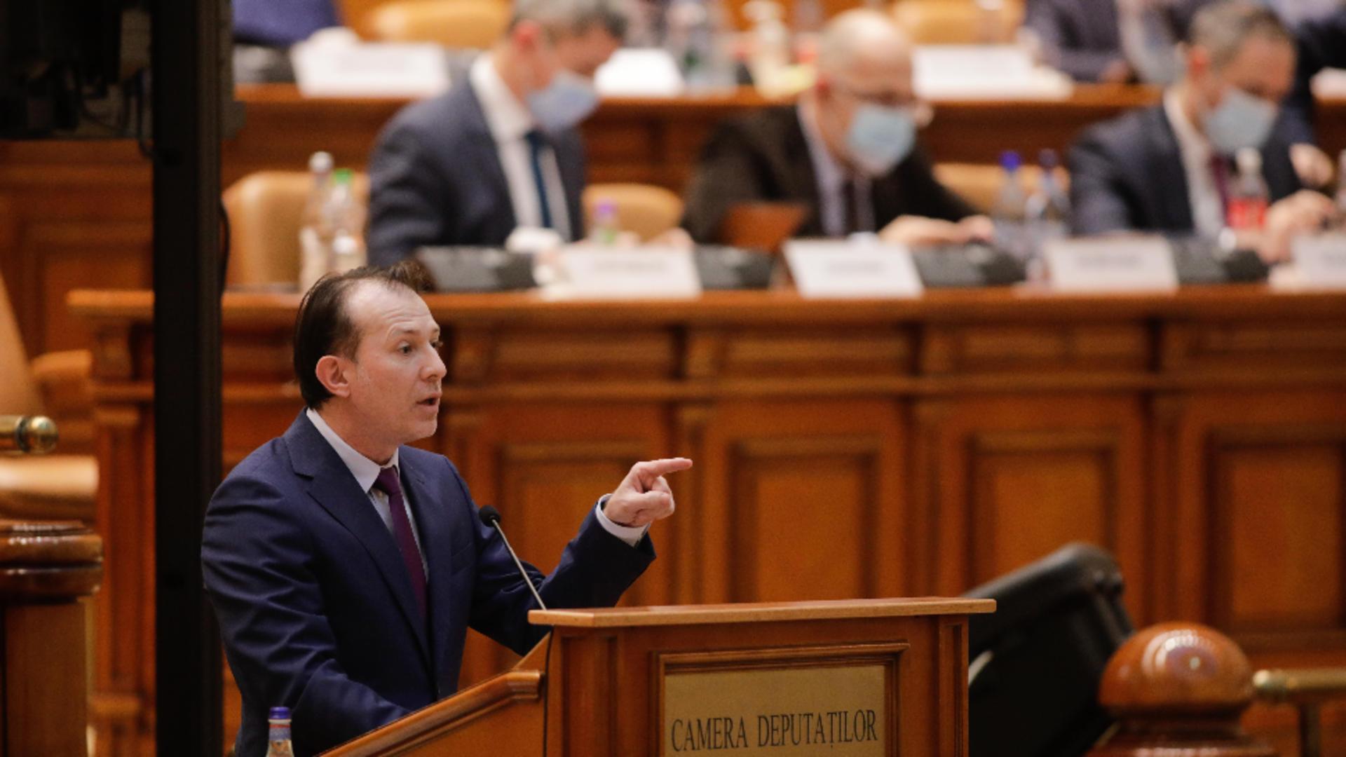 Premierul Florin Cîțu, în Parlament