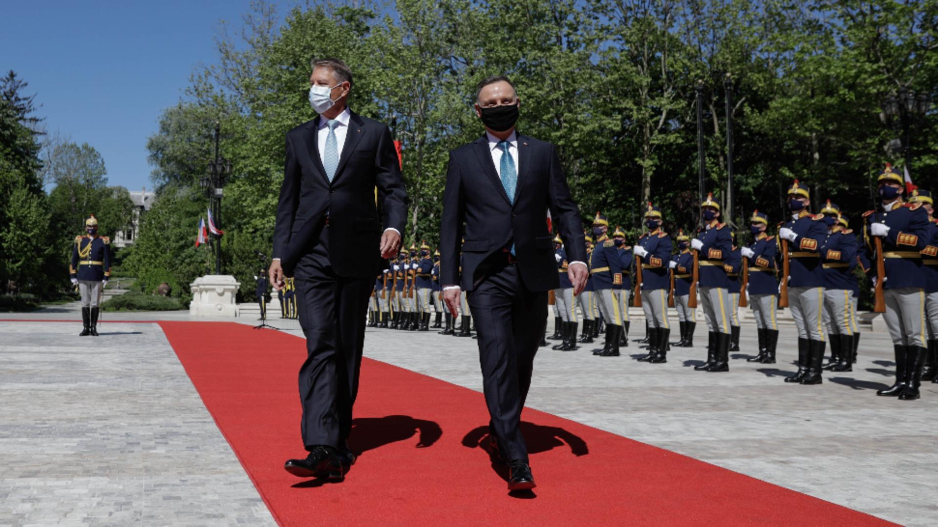 Președintele Poloniei, primit la Palatul Cotroceni / Inquam Photos - George Călin