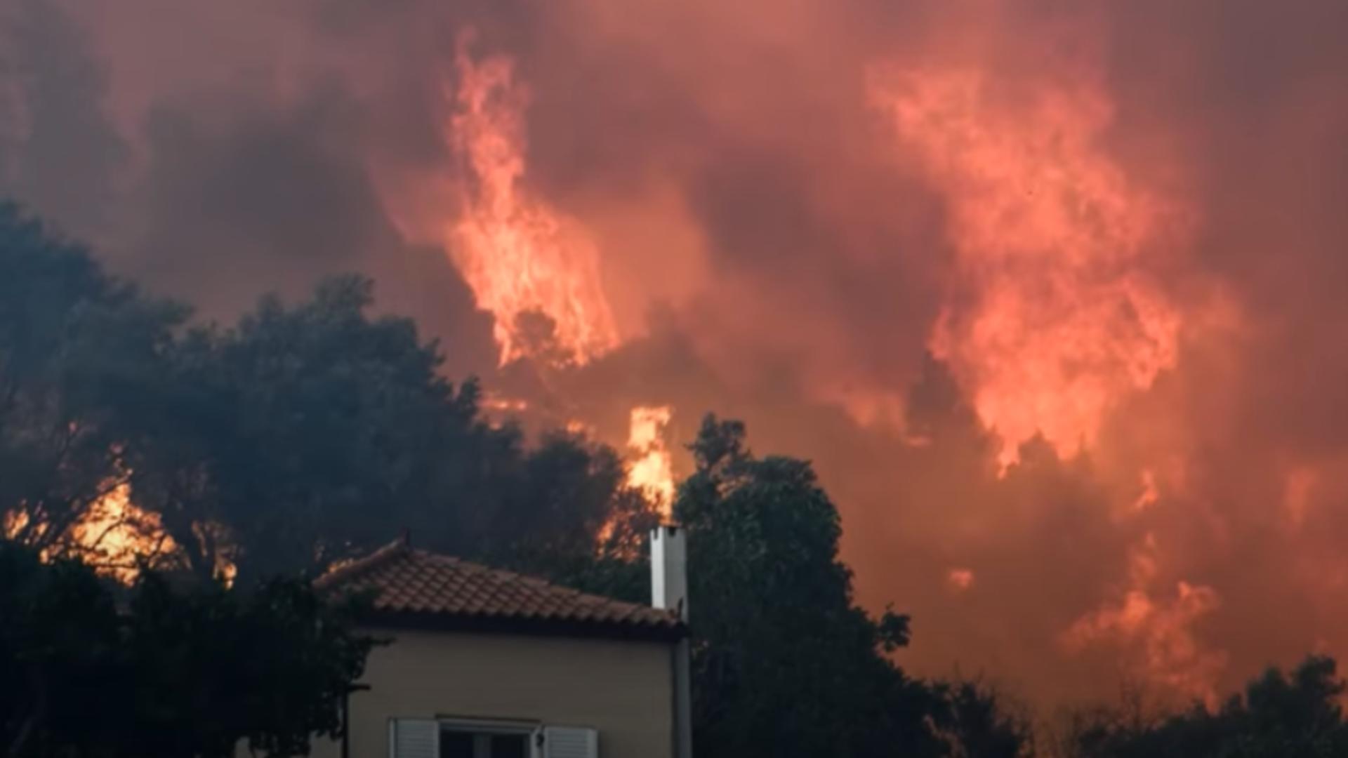 Incendiu Grecia/ Captură Youtube