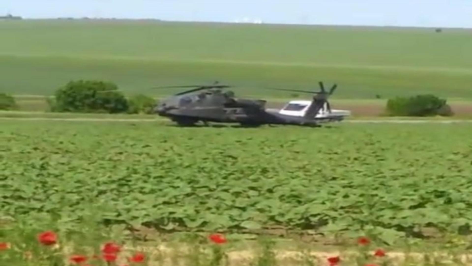 Aterizare de urgență elicopter militar