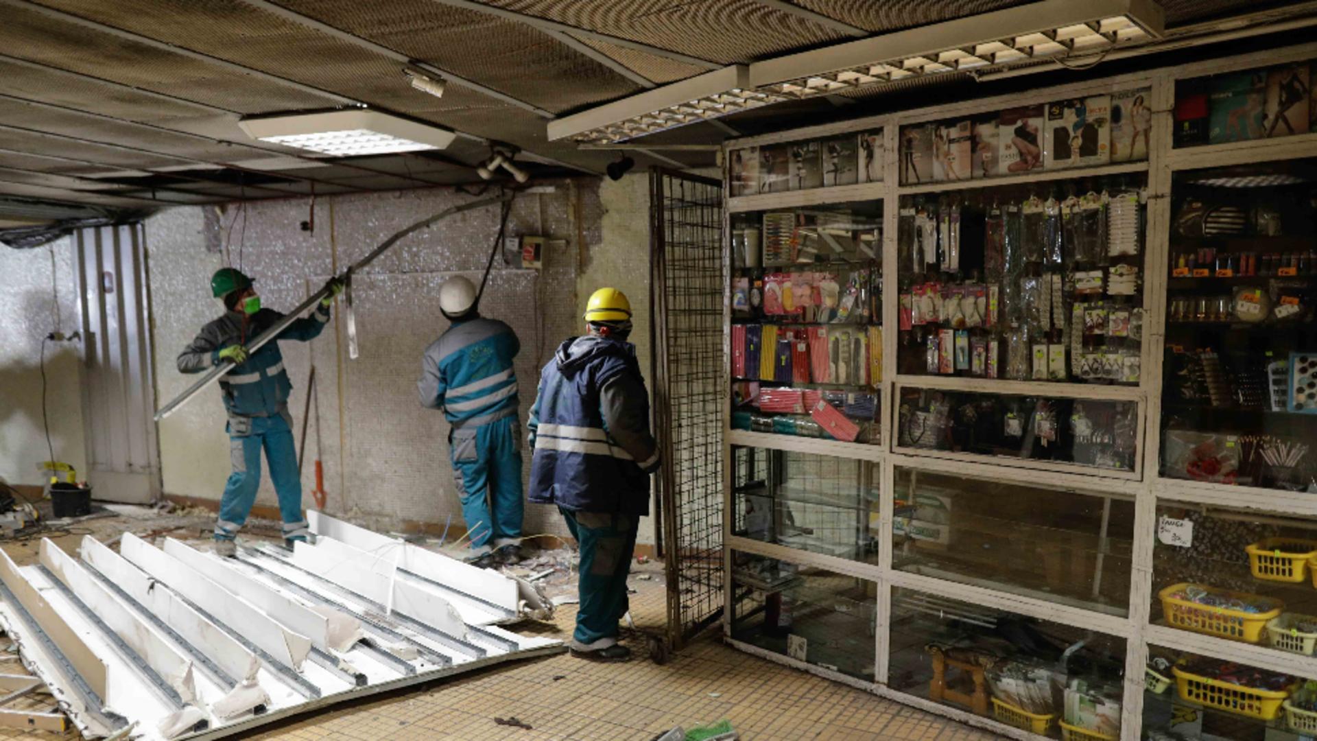 Chioșcuri demolate la metrou / Foto: Arhivă Inquam